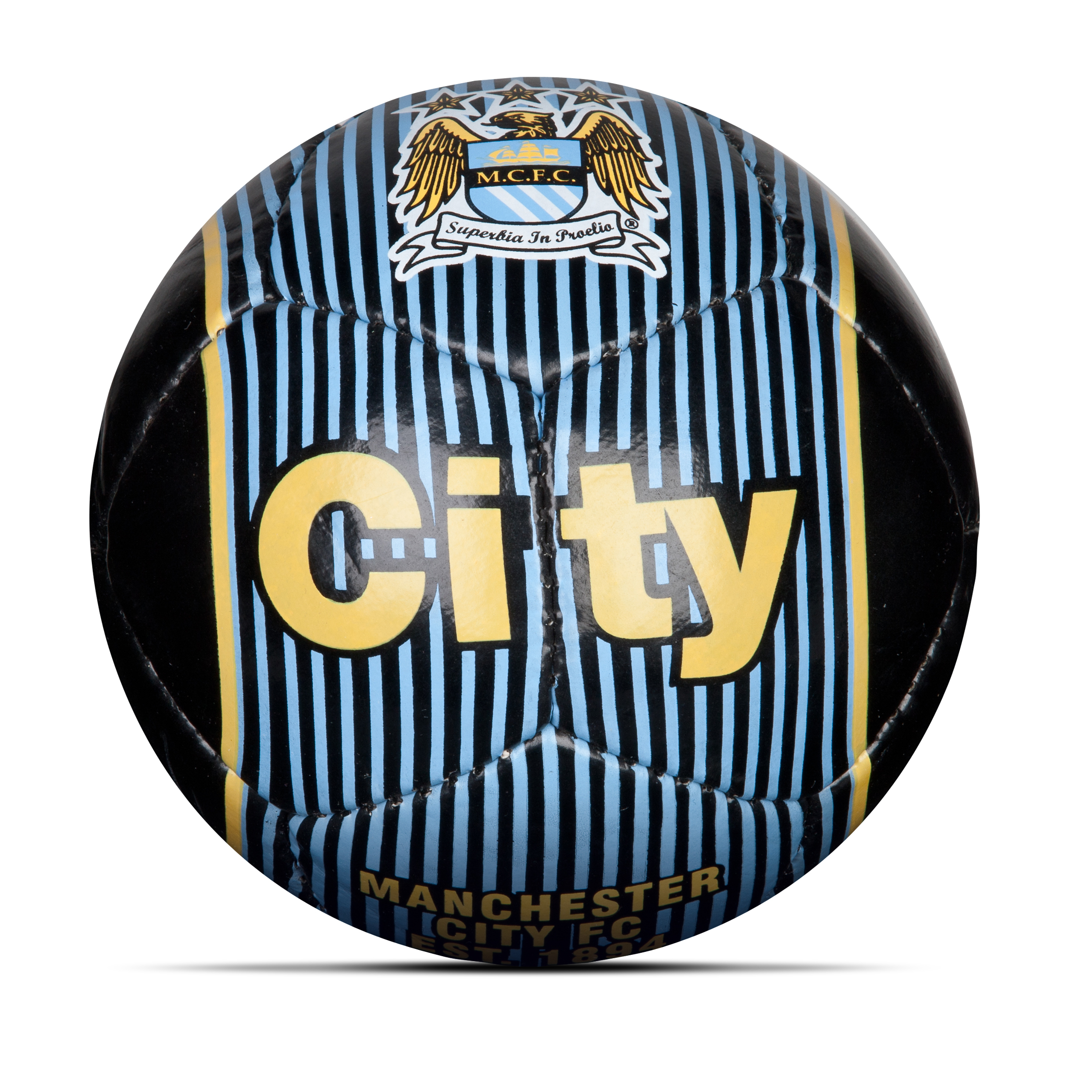 Manchester City Home Football - Size 2 - Black/Sky