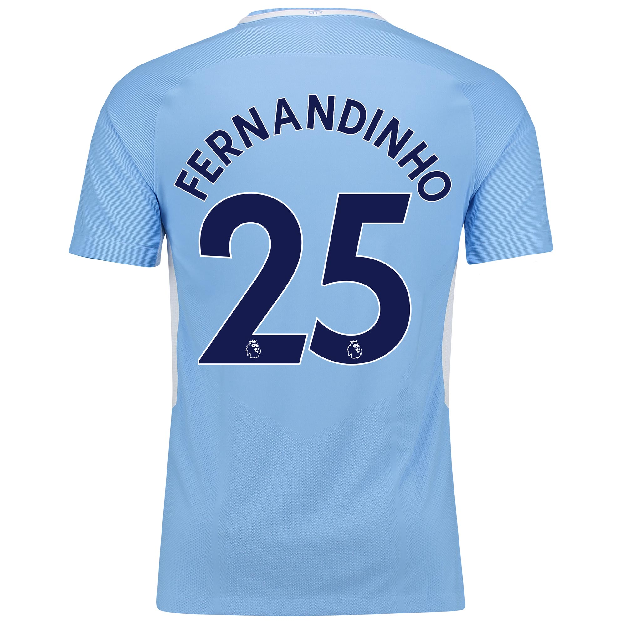 Manchester City Home Vapor Match Shirt 2017-18 with Fernandinho 25 pri
