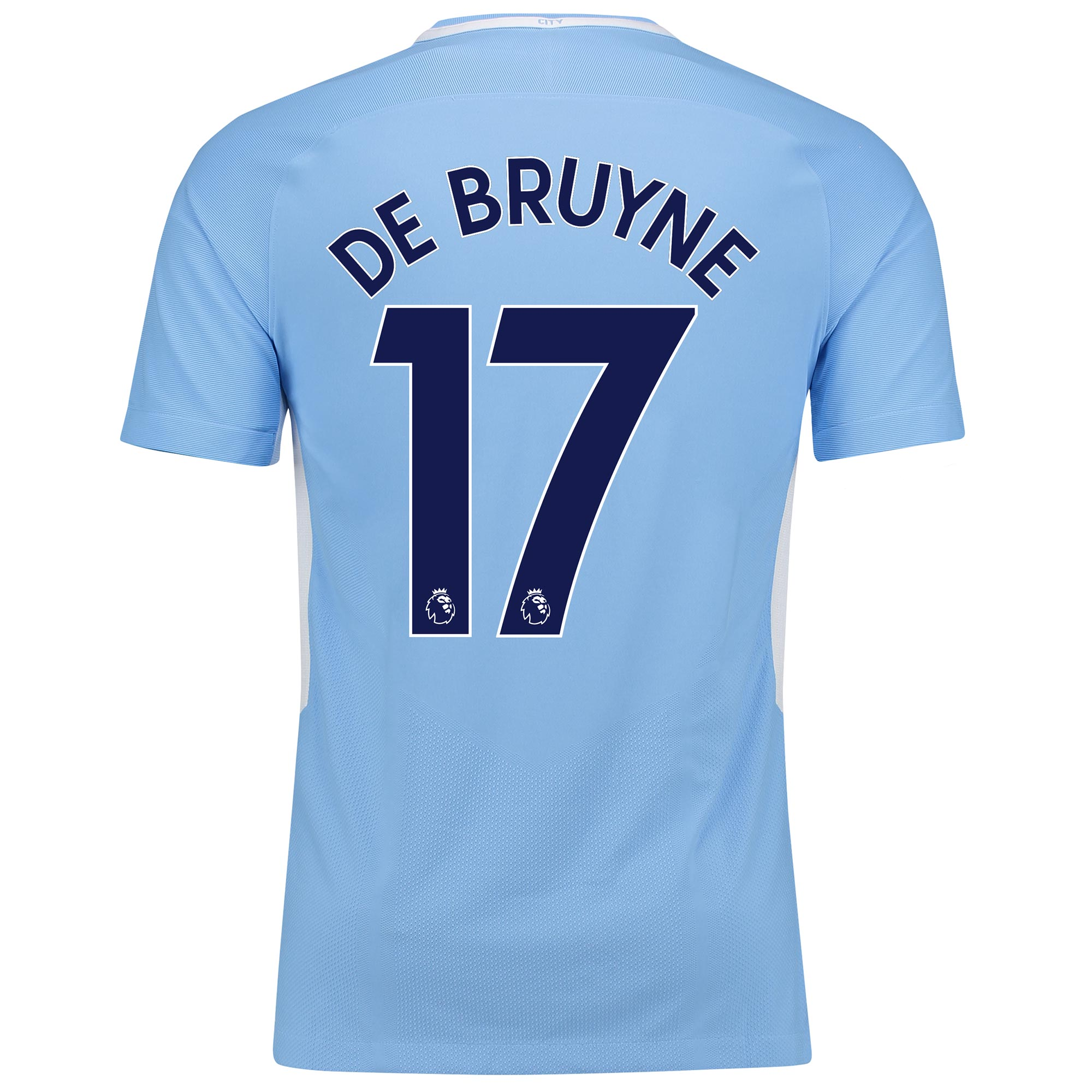 Manchester City Home Vapor Match Shirt 2017-18 with De Bruyne 17 print