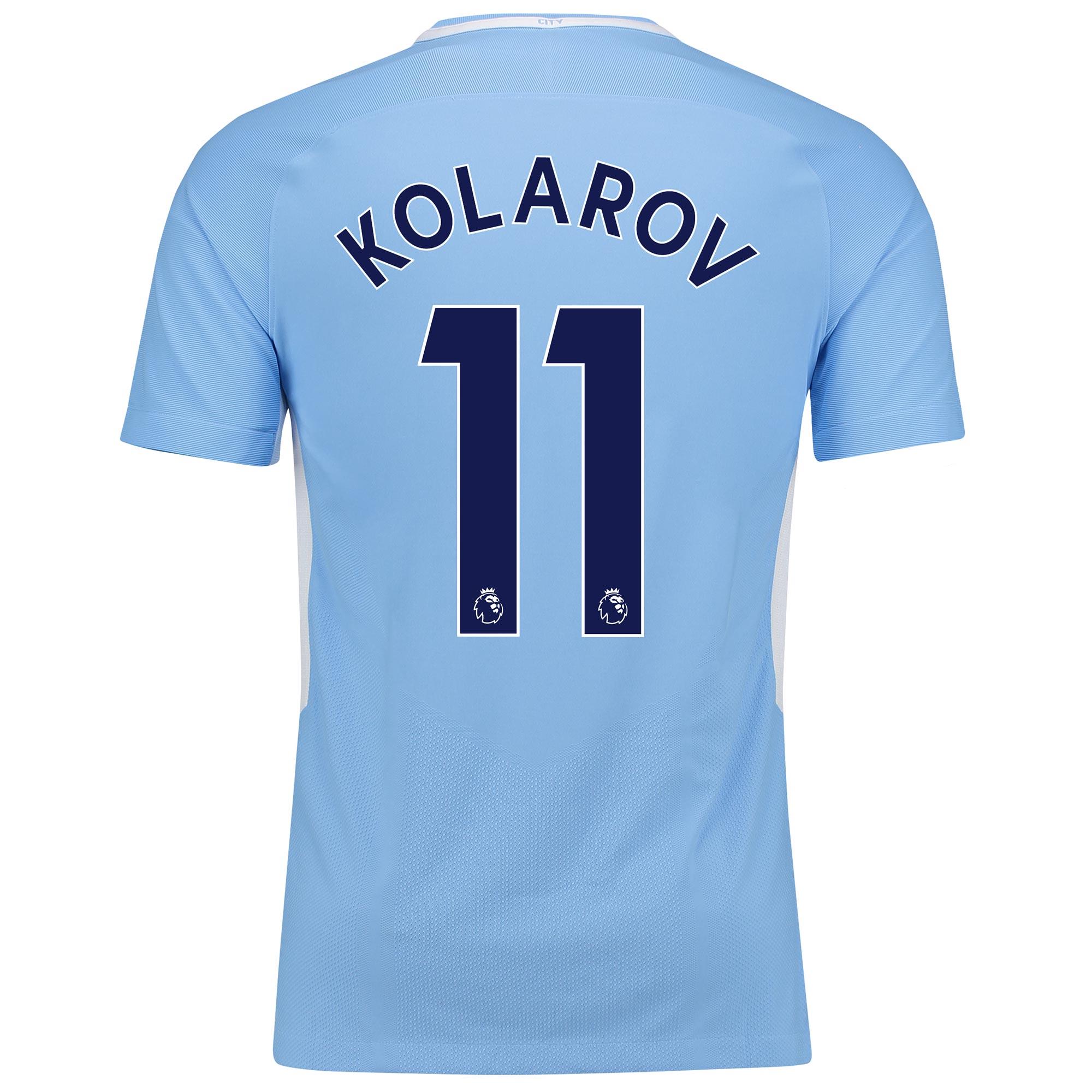 Manchester City Home Vapor Match Shirt 2017-18 with Kolarov 11 printin