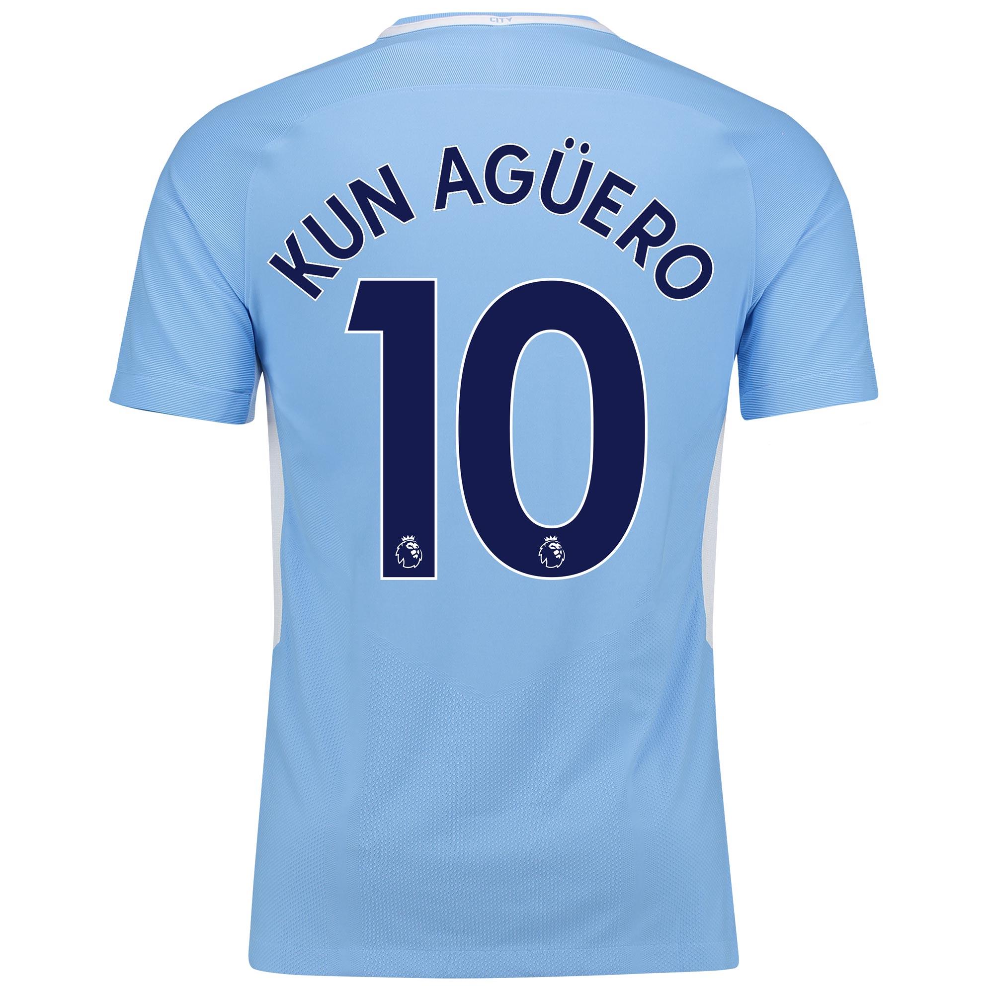 Manchester City Home Vapor Match Shirt 2017-18 with Kun Agüero  10 pri