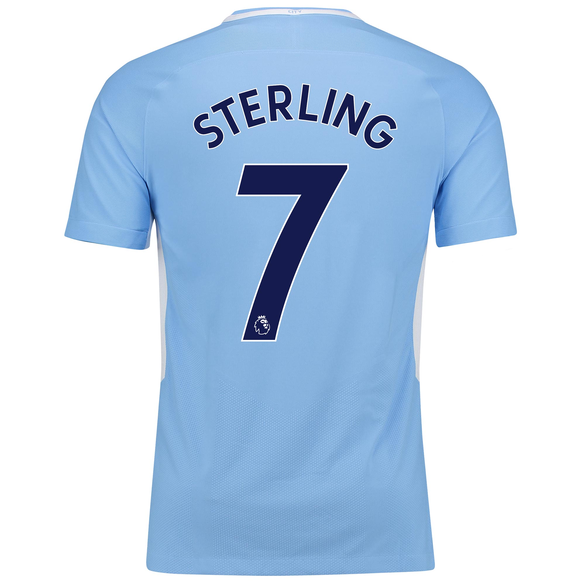 Manchester City Home Vapor Match Shirt 2017-18 with Sterling 7 printin
