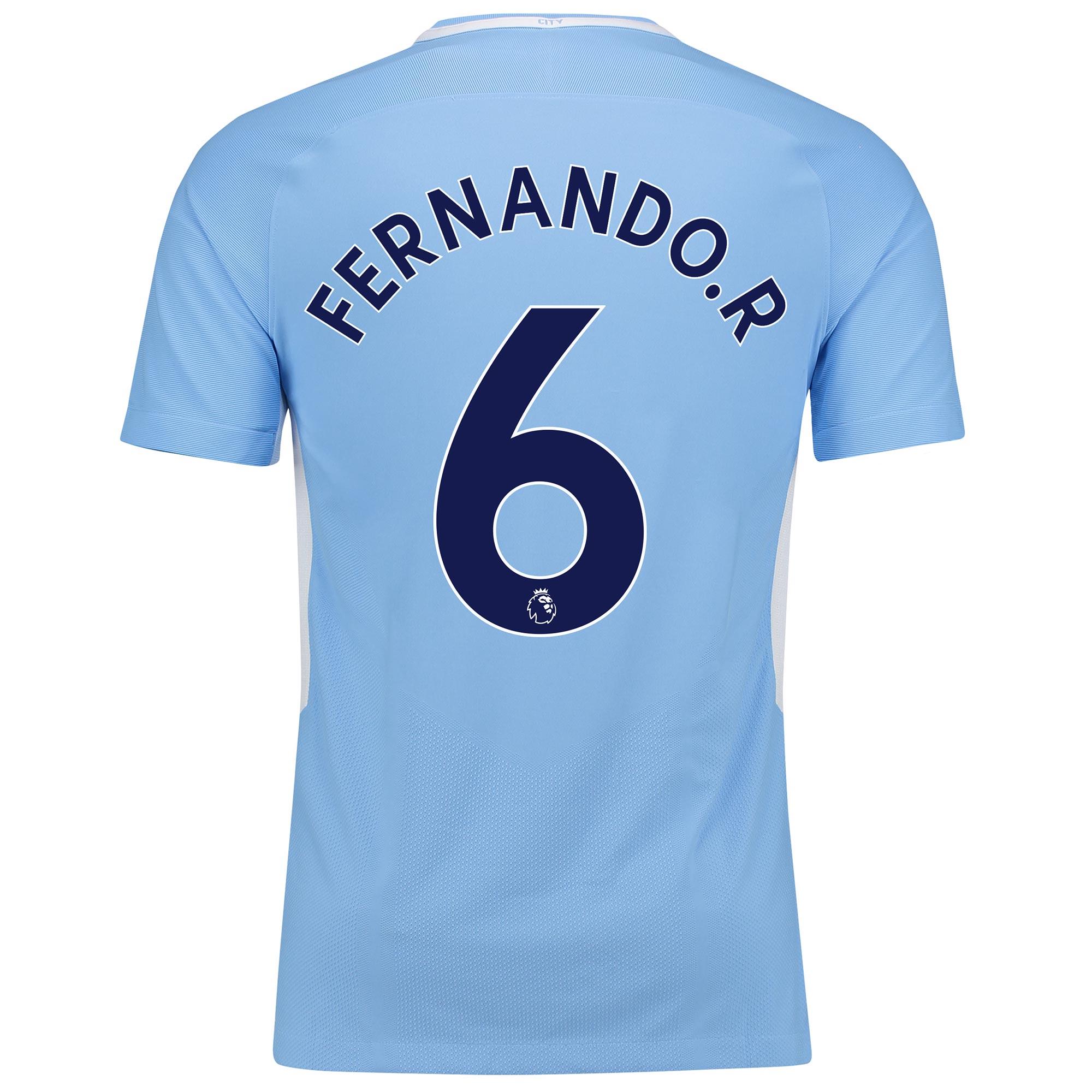 Manchester City Home Vapor Match Shirt 2017-18 with Fernando. R 6 prin