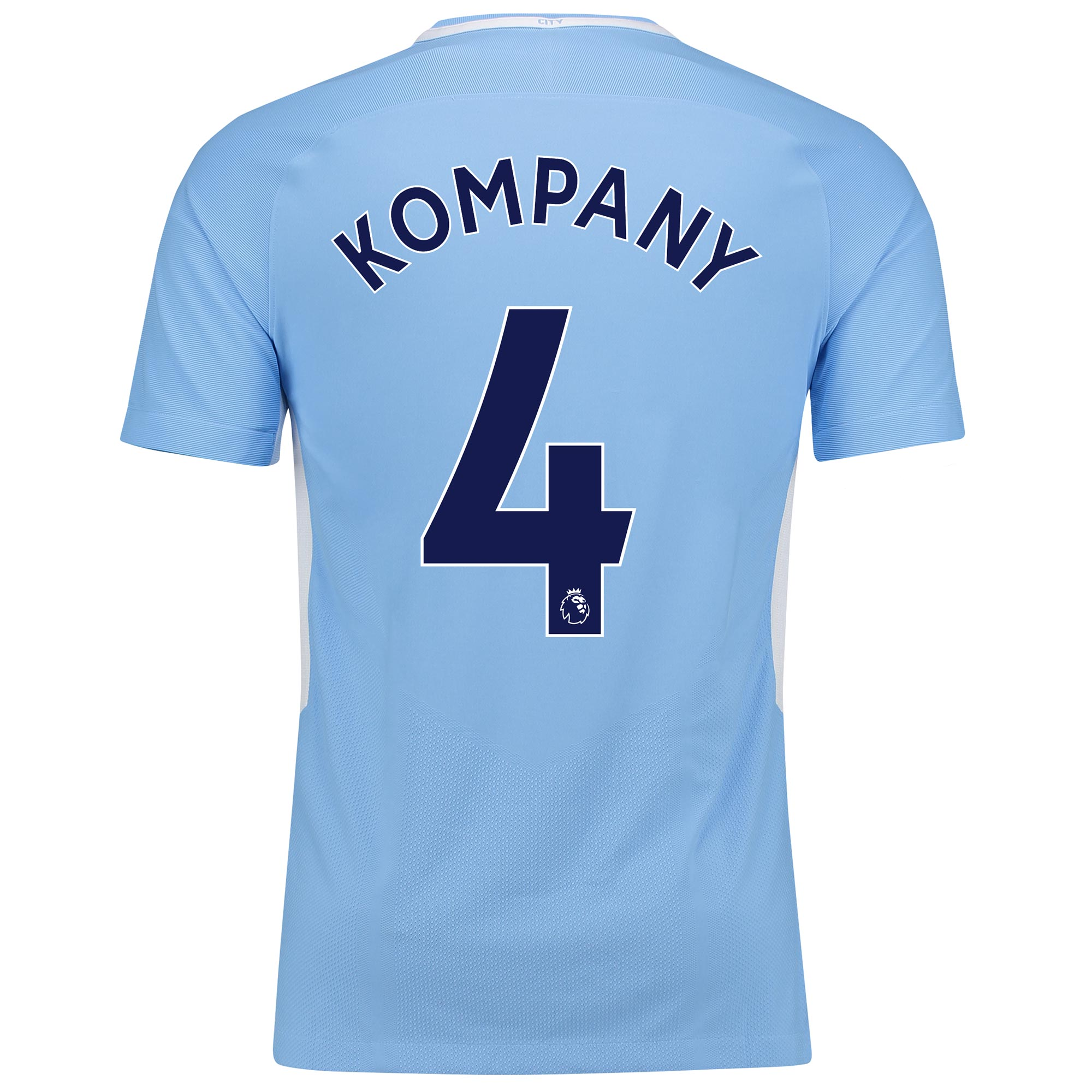 Manchester City Home Vapor Match Shirt 2017-18 with Kompany 4 printing