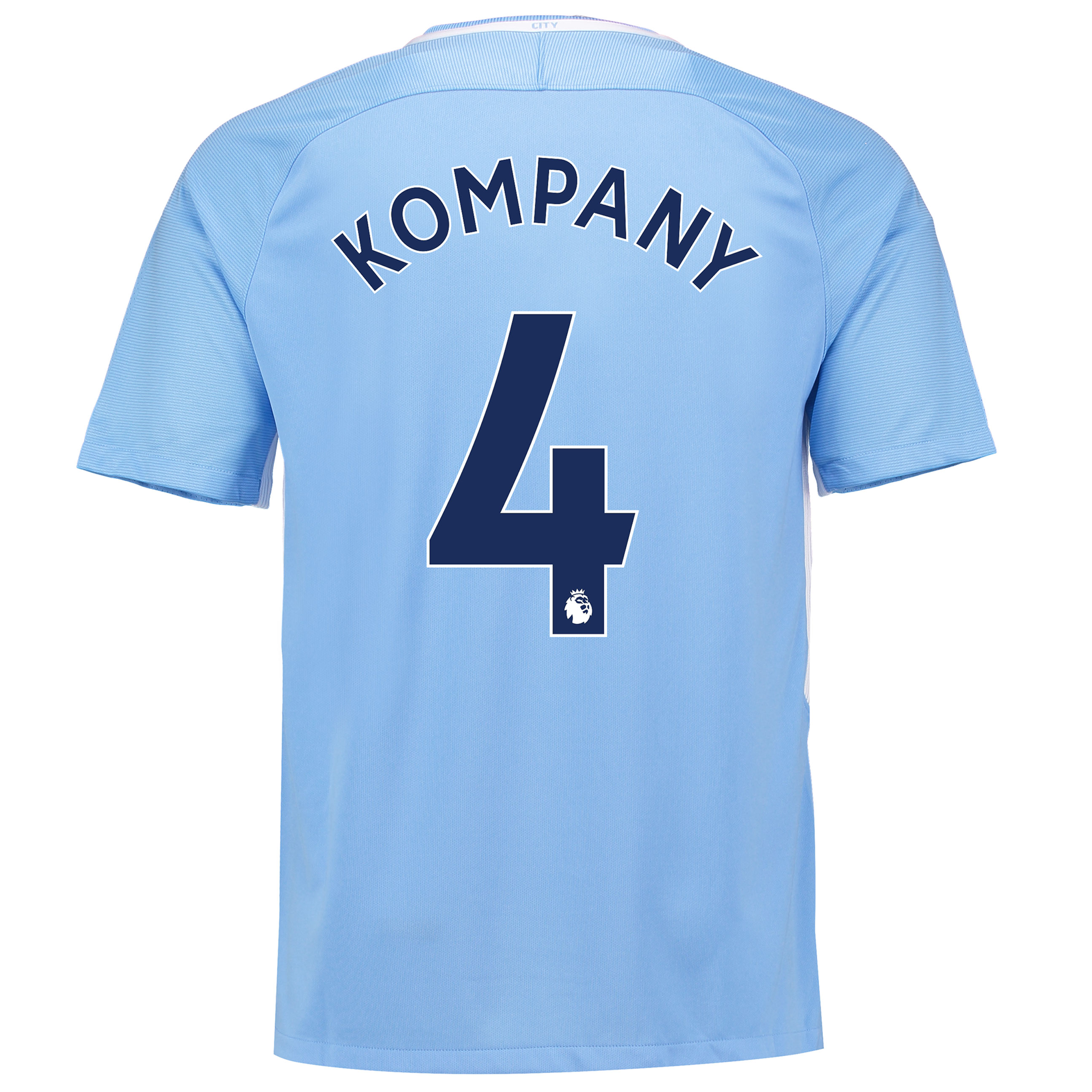 Manchester City Home Stadium Shirt 2017-18 with Kompany 4 printing