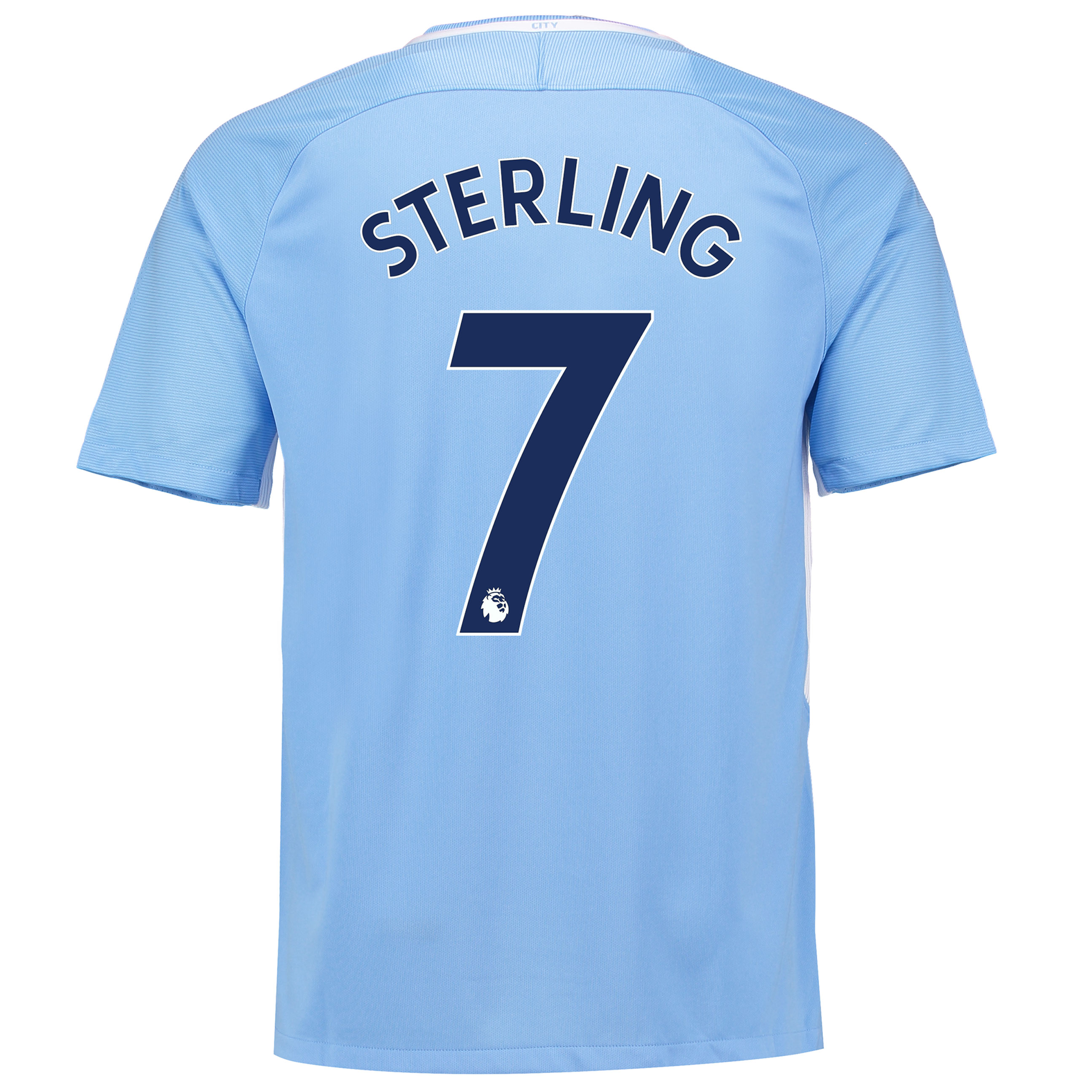 Manchester City Home Stadium Shirt 2017-18 with Sterling 7 printing
