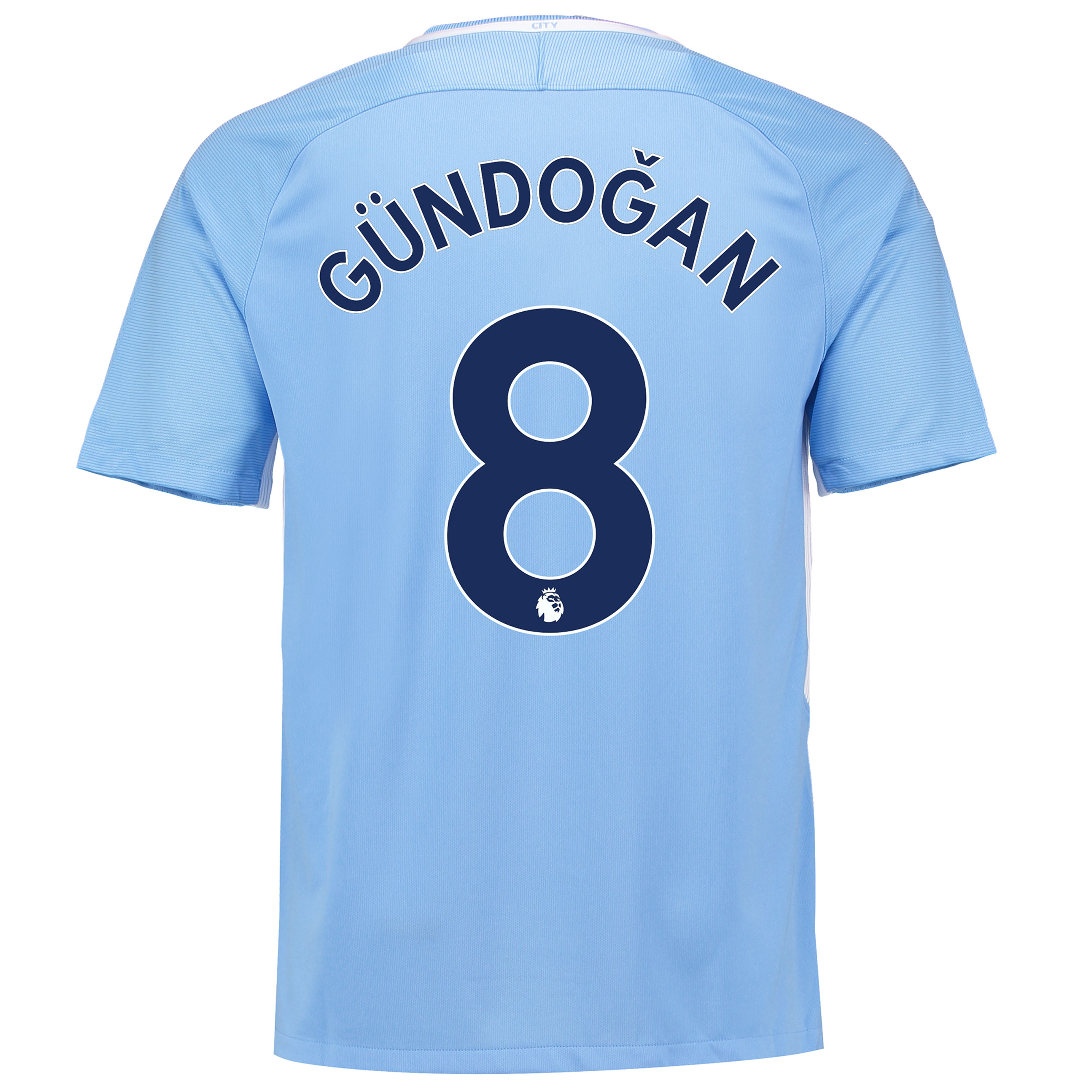 Manchester City Home Stadium Shirt 2017-18 with G??ndogan 8 printing