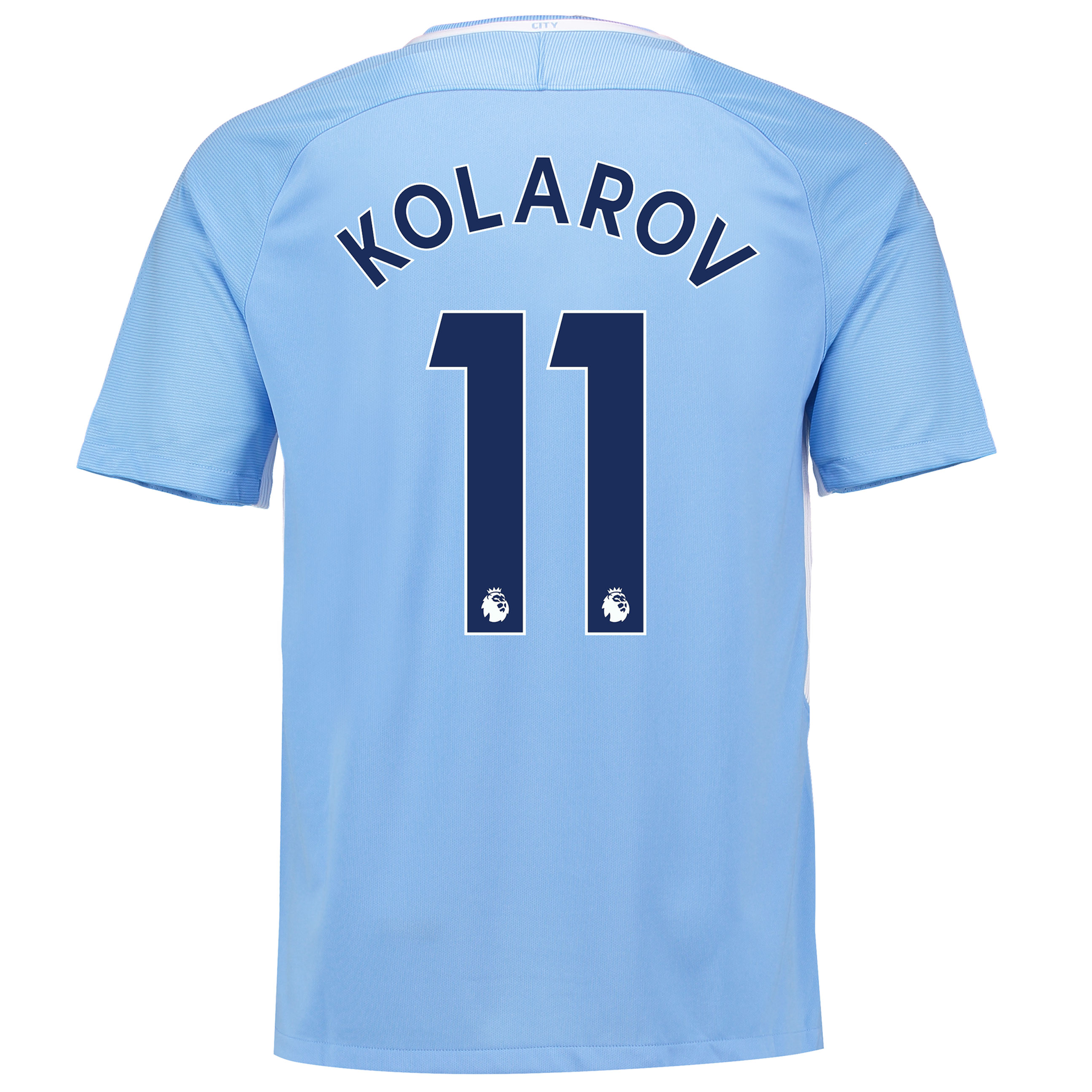 Manchester City Home Stadium Shirt 2017-18 with Kolarov 11 printing