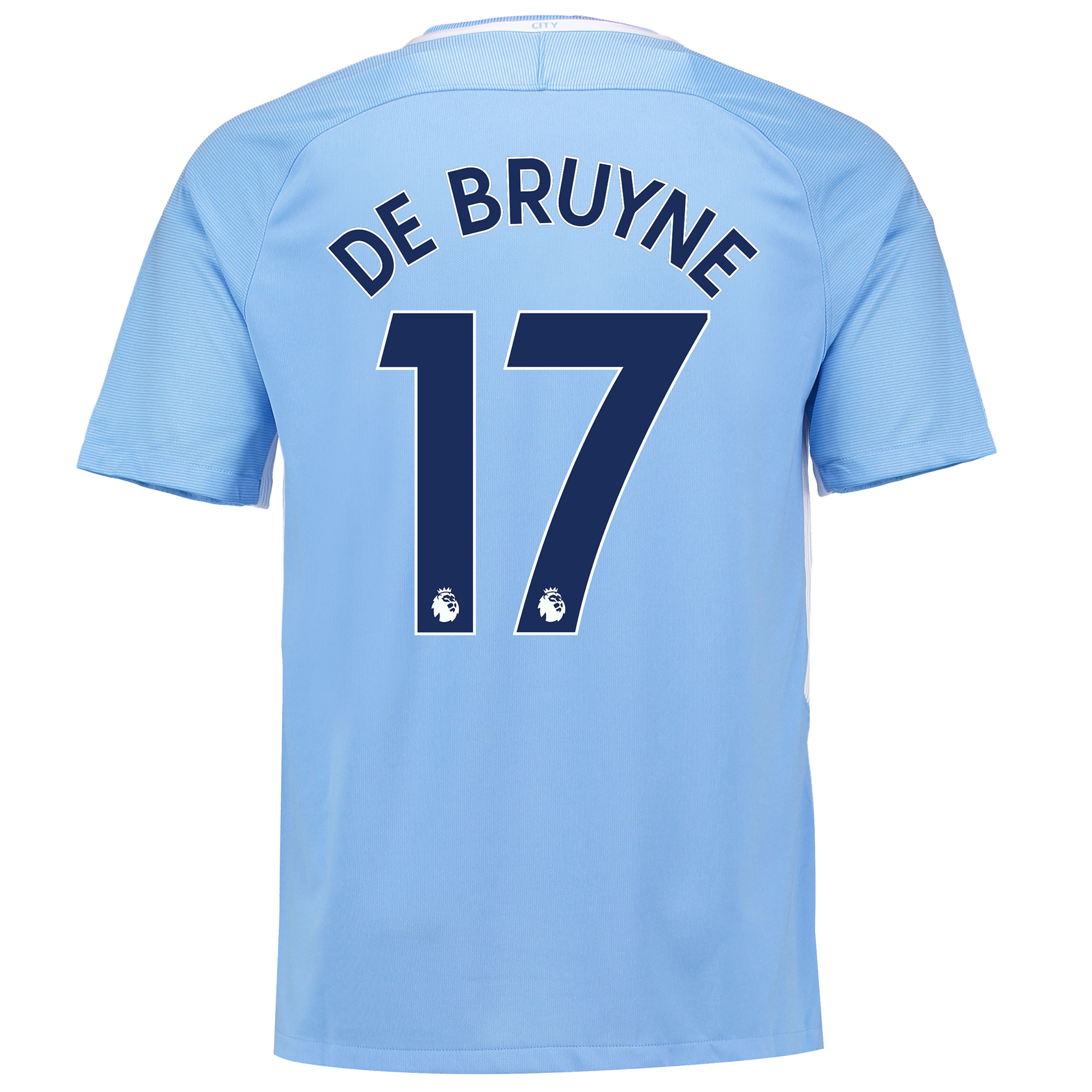 Manchester City Home Stadium Shirt 2017-18 with De Bruyne 17 printing