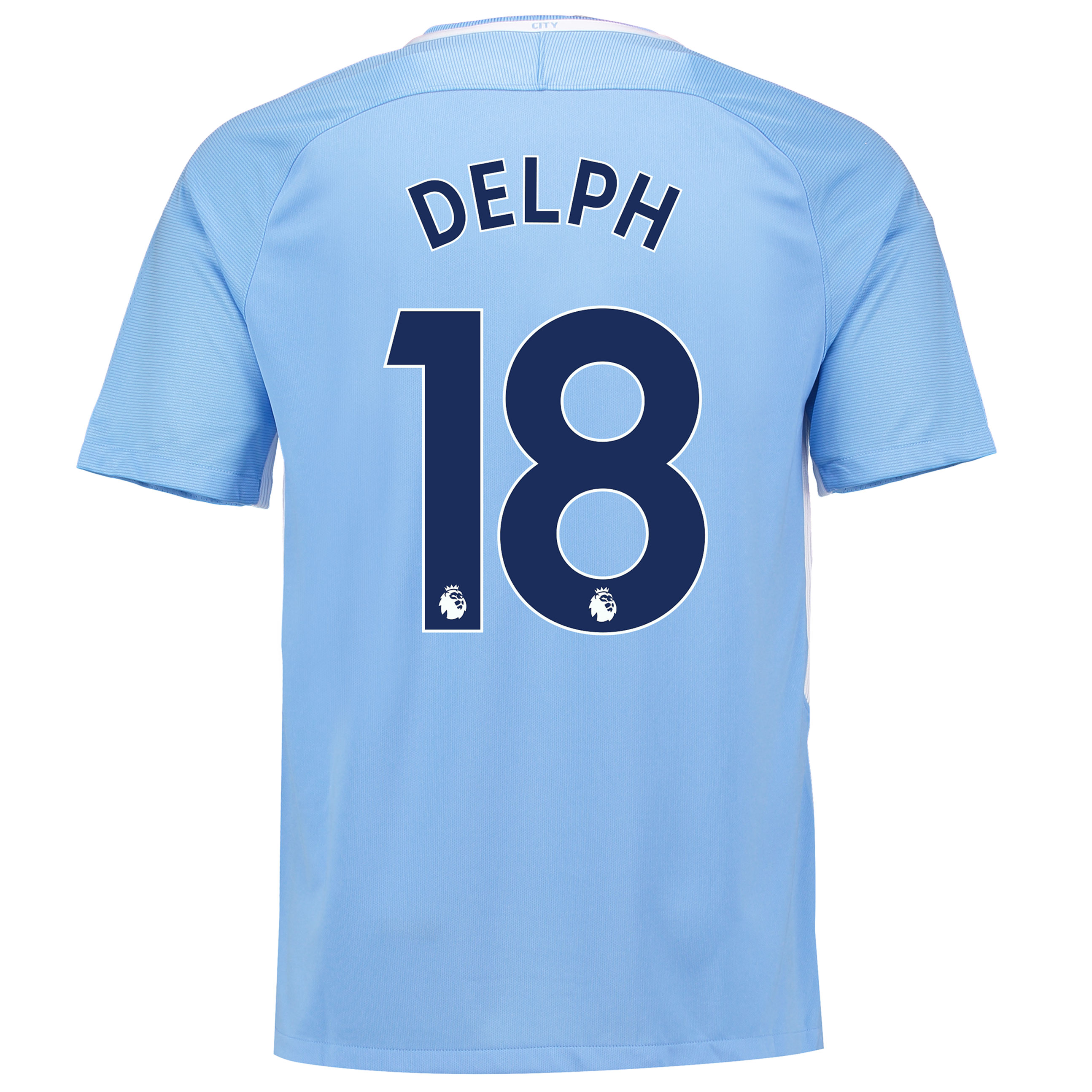 Manchester City Home Stadium Shirt 2017-18 with Delph 18 printing