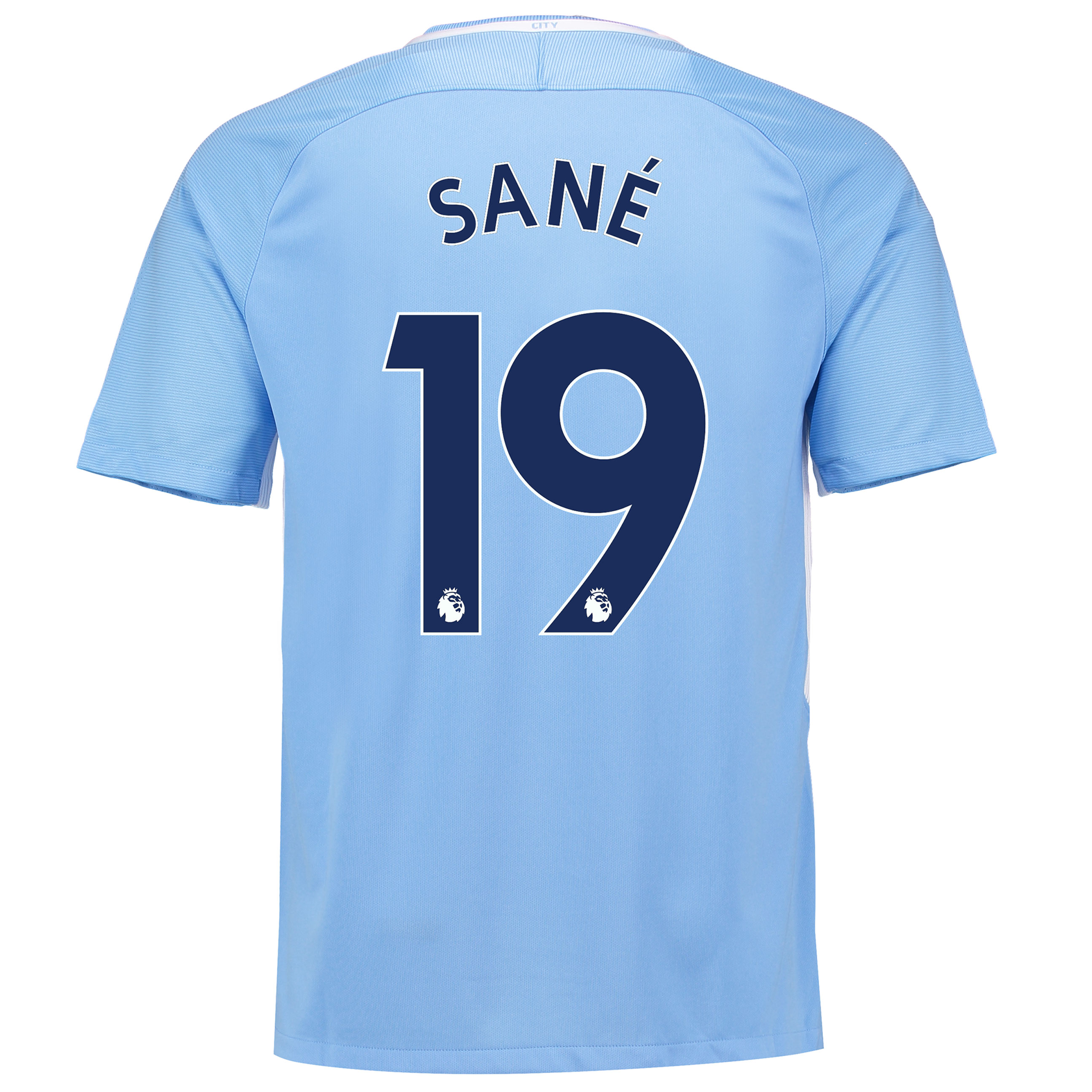 Manchester City Home Stadium Shirt 2017-18 with San?® 19 printing