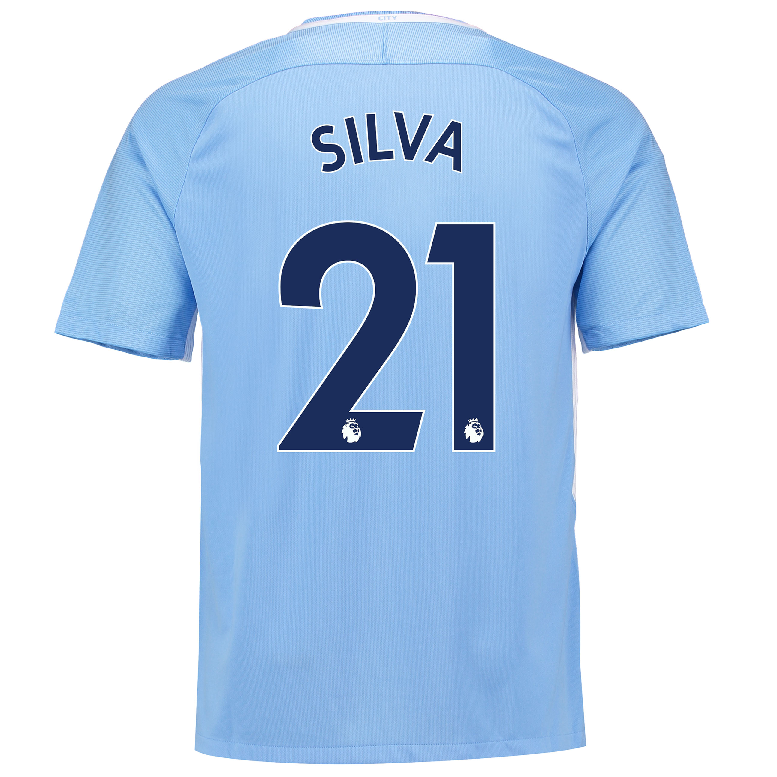 Manchester City Home Stadium Shirt 2017-18 with Silva 21 printing