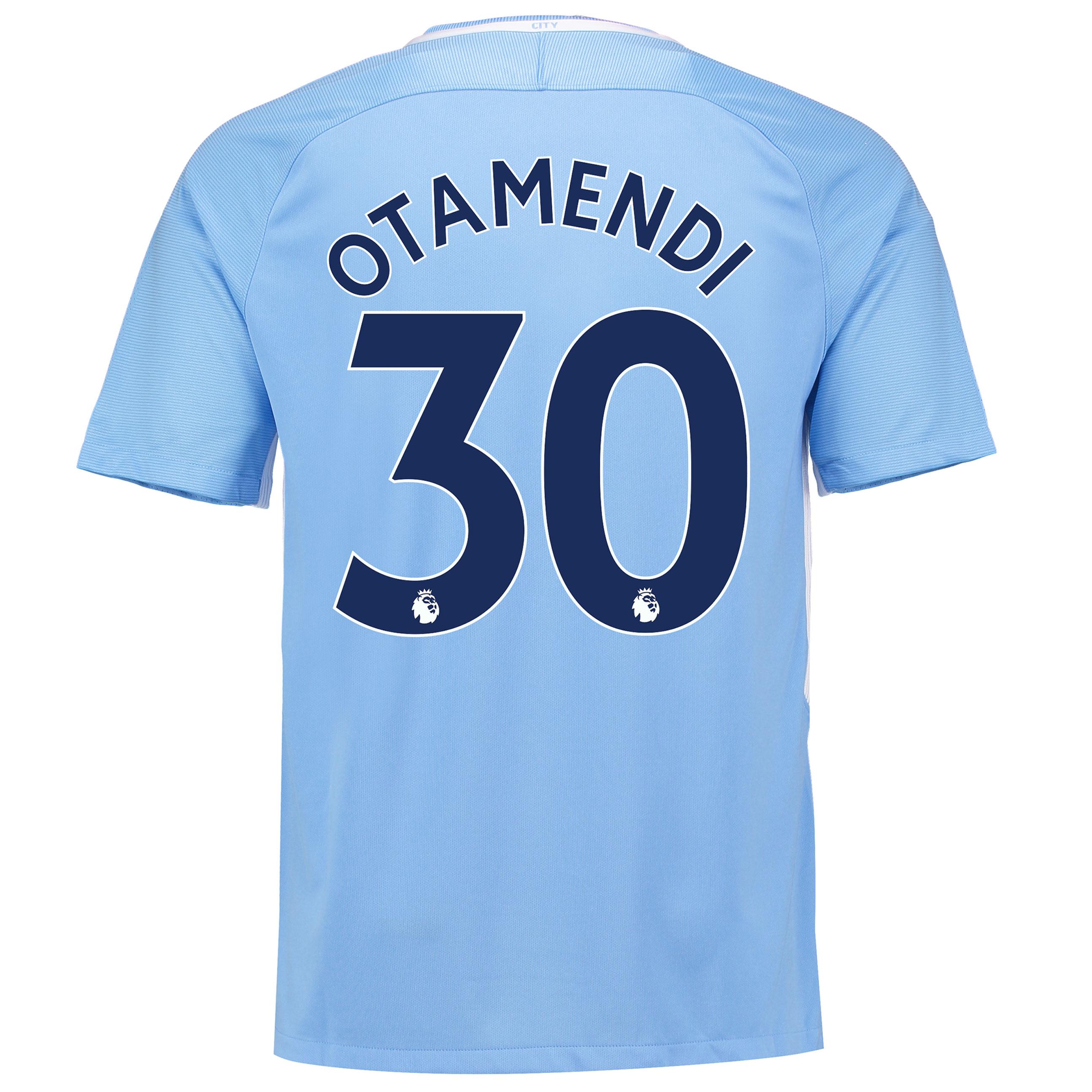 Manchester City Home Stadium Shirt 2017-18 with Otamendi 30 printing