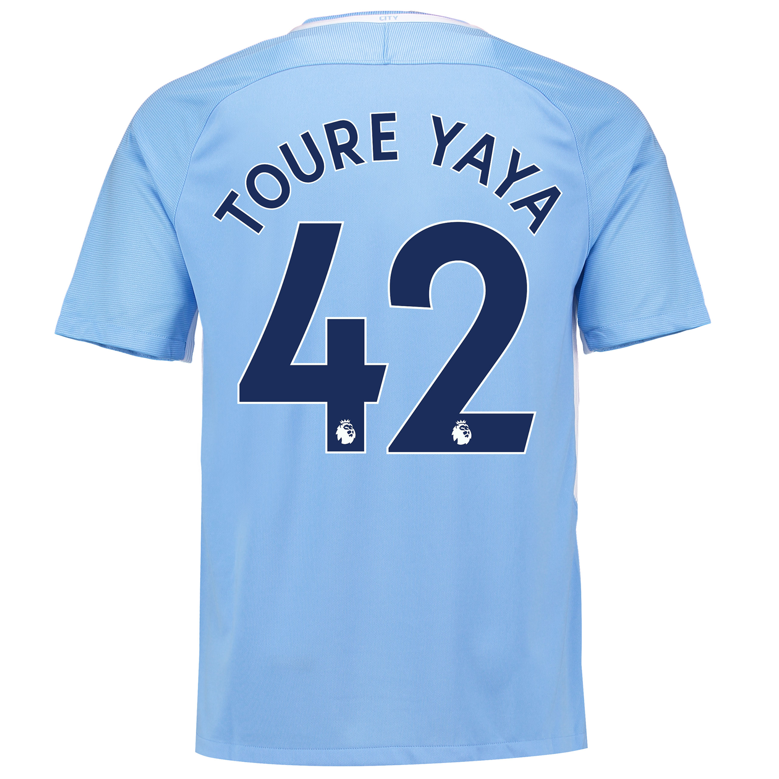 Manchester City Home Stadium Shirt 2017-18 with Toure Yaya 42 printing