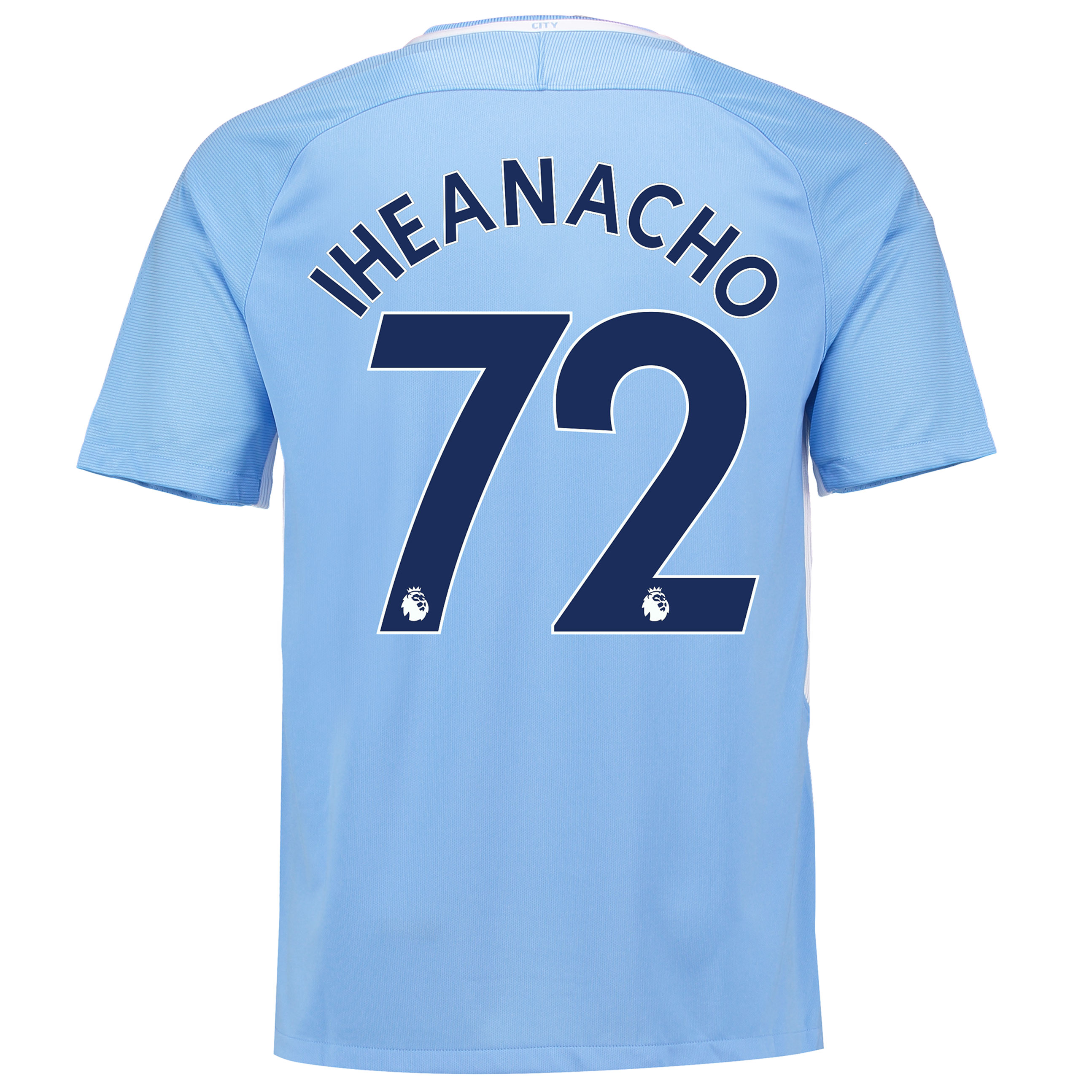 Manchester City Home Stadium Shirt 2017-18 with Iheanacho 72 printing