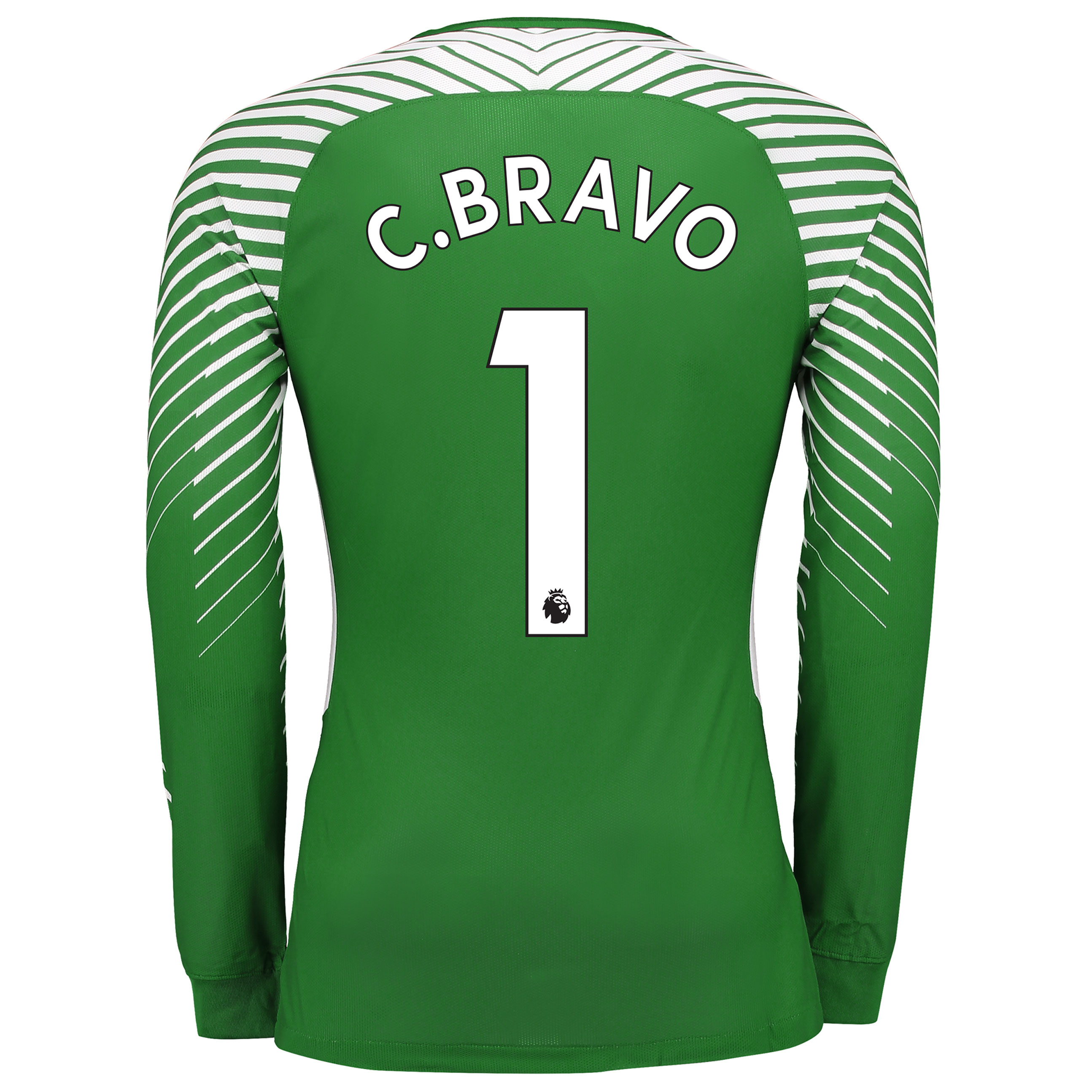 Manchester City Goalkeeper Shirt 2017-18 with C.Bravo 1 printing