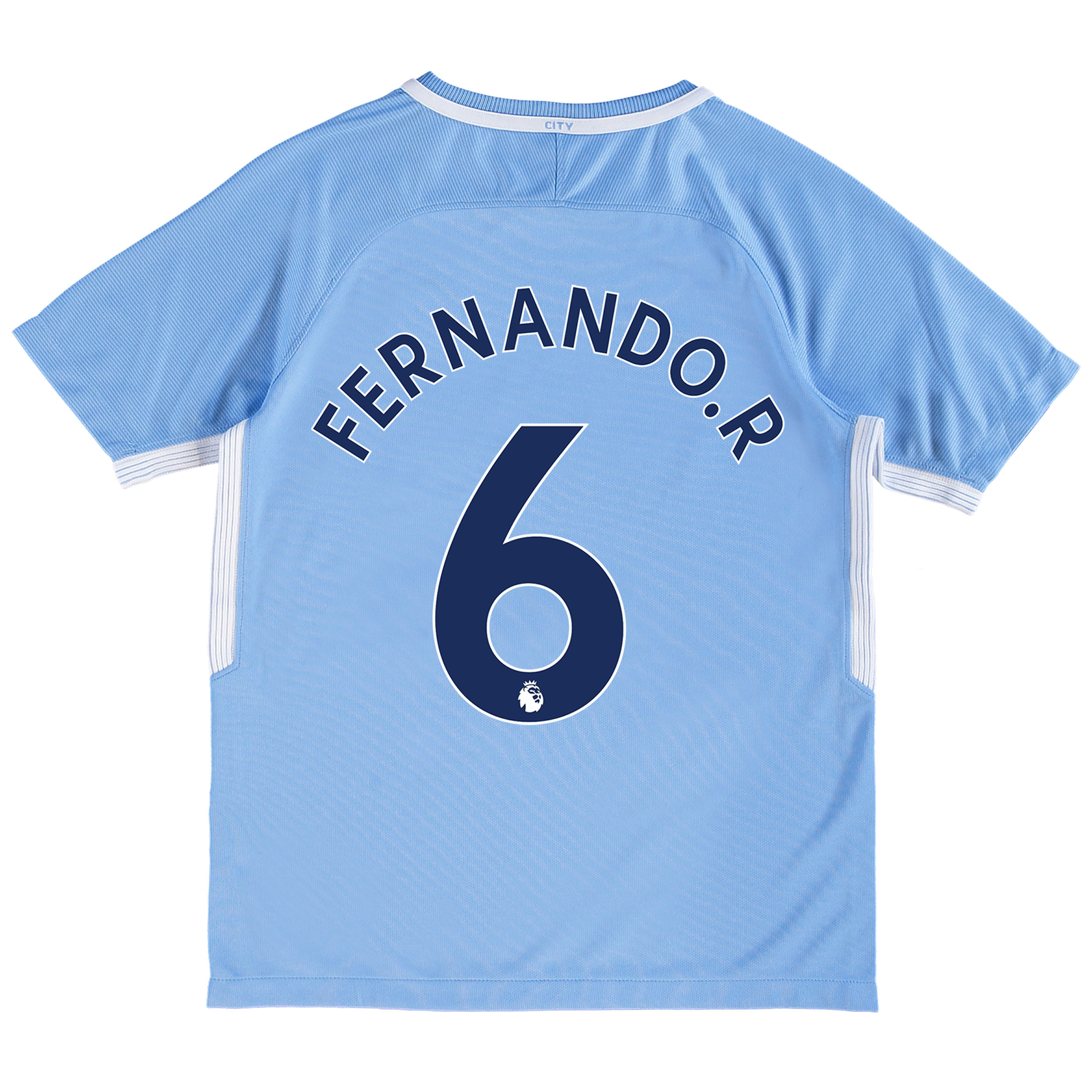 Manchester City Home Stadium Shirt 2017-18 - Kids with Fernando. R 6 p