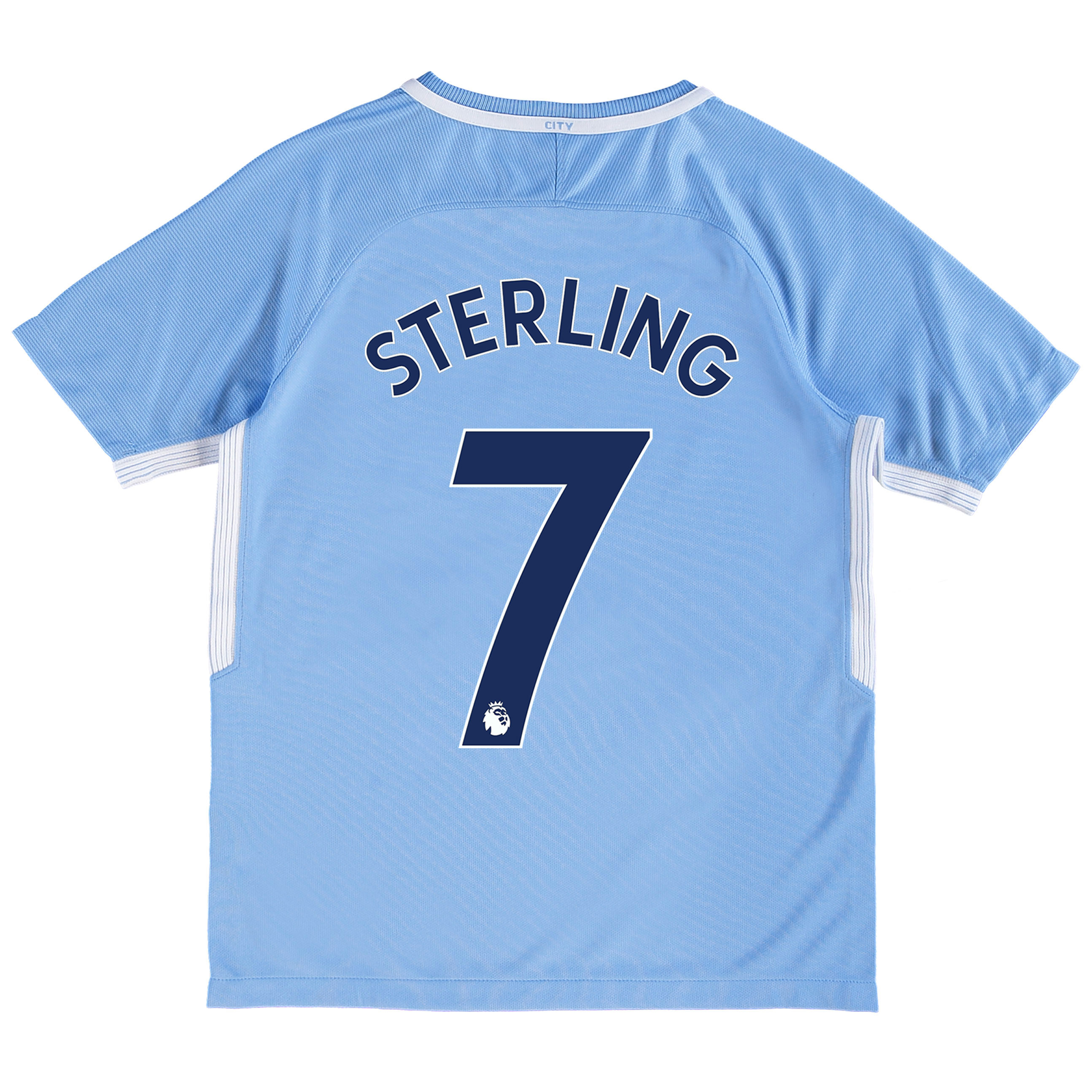 Manchester City Home Stadium Shirt 2017-18 - Kids with Sterling 7 prin