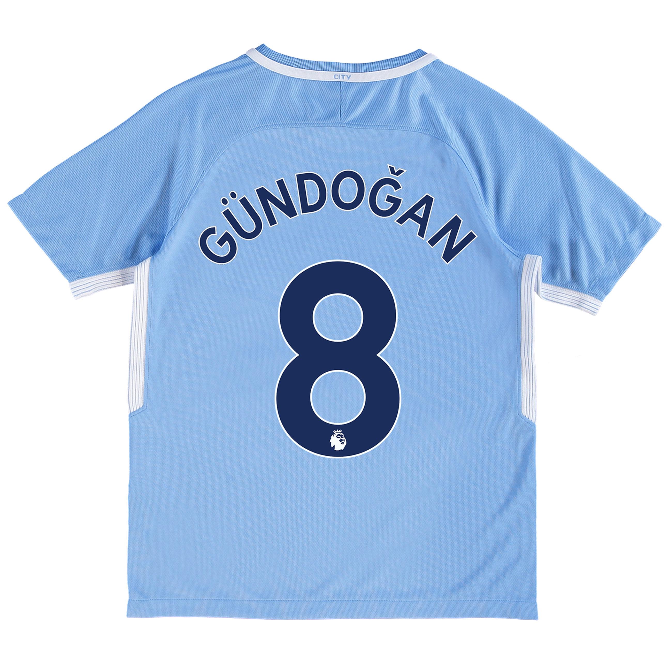 Manchester City Home Stadium Shirt 2017-18 - Kids with G??ndogan 8 prin