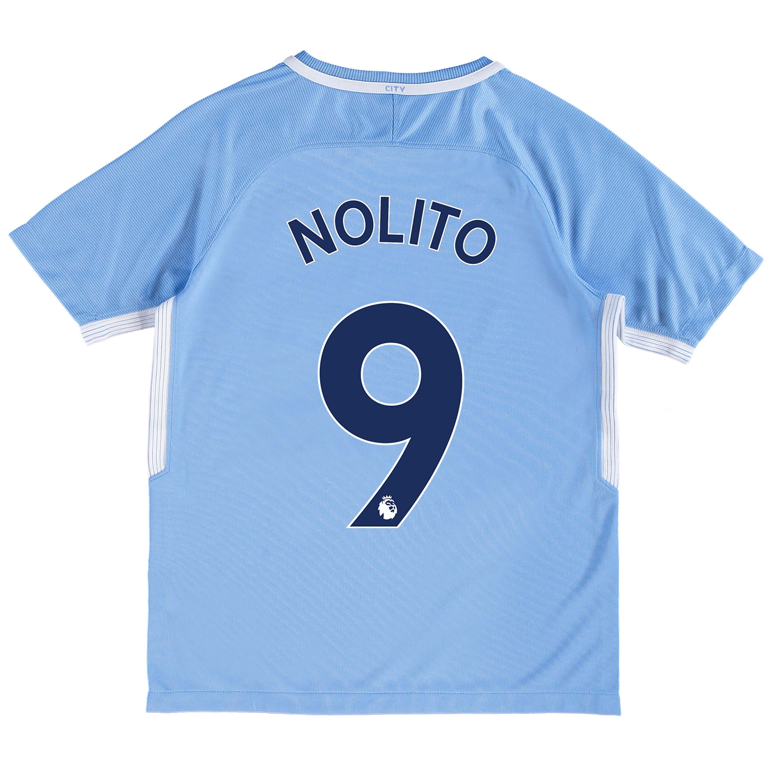 Manchester City Home Stadium Shirt 2017-18 - Kids with Nolito 9 printi