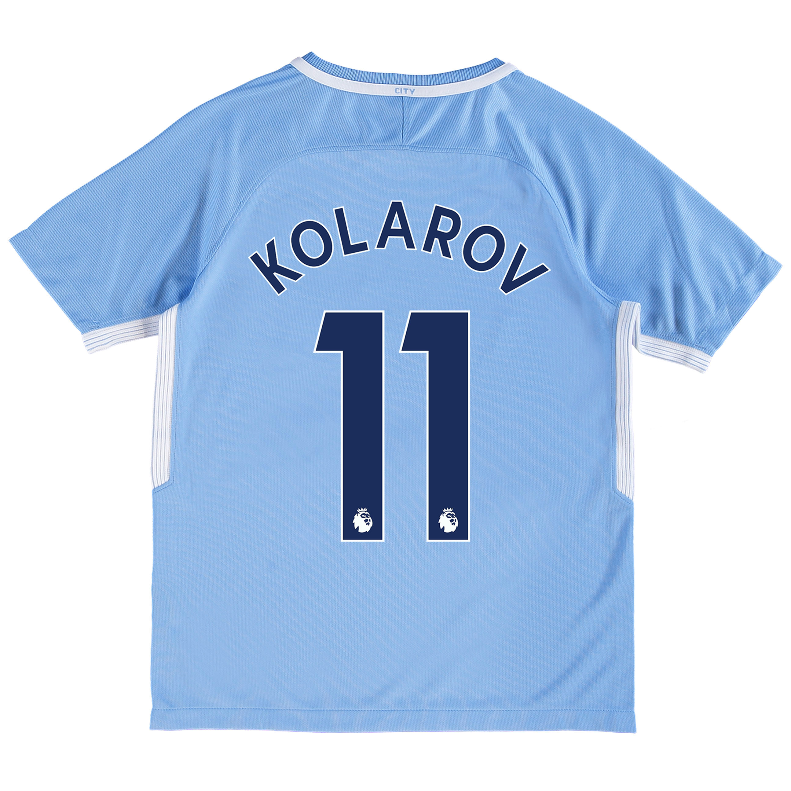 Manchester City Home Stadium Shirt 2017-18 - Kids with Kolarov 11 prin
