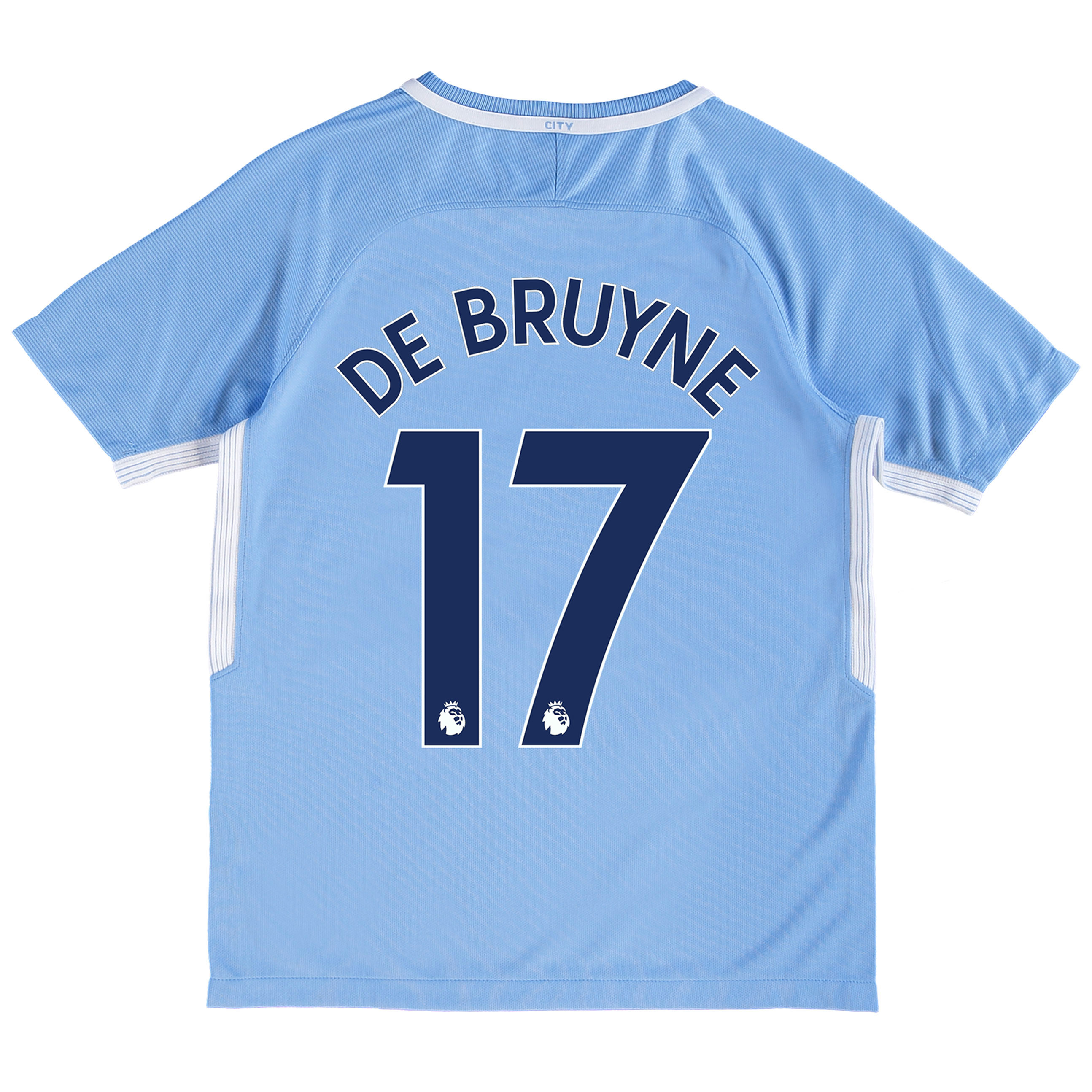 Manchester City Home Stadium Shirt 2017-18 - Kids with De Bruyne 17 pr