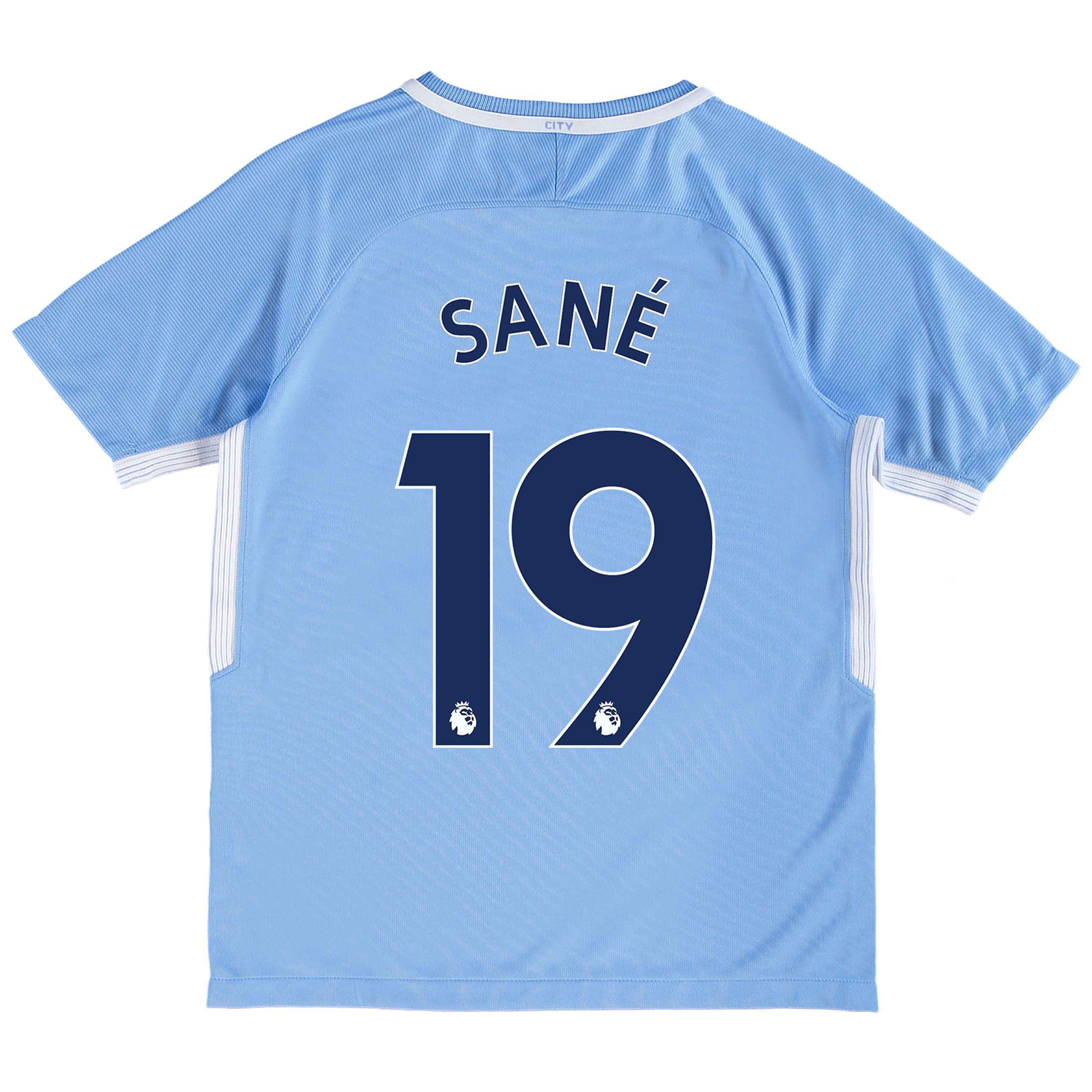 Manchester City Home Stadium Shirt 2017-18 - Kids with San?® 19 printin