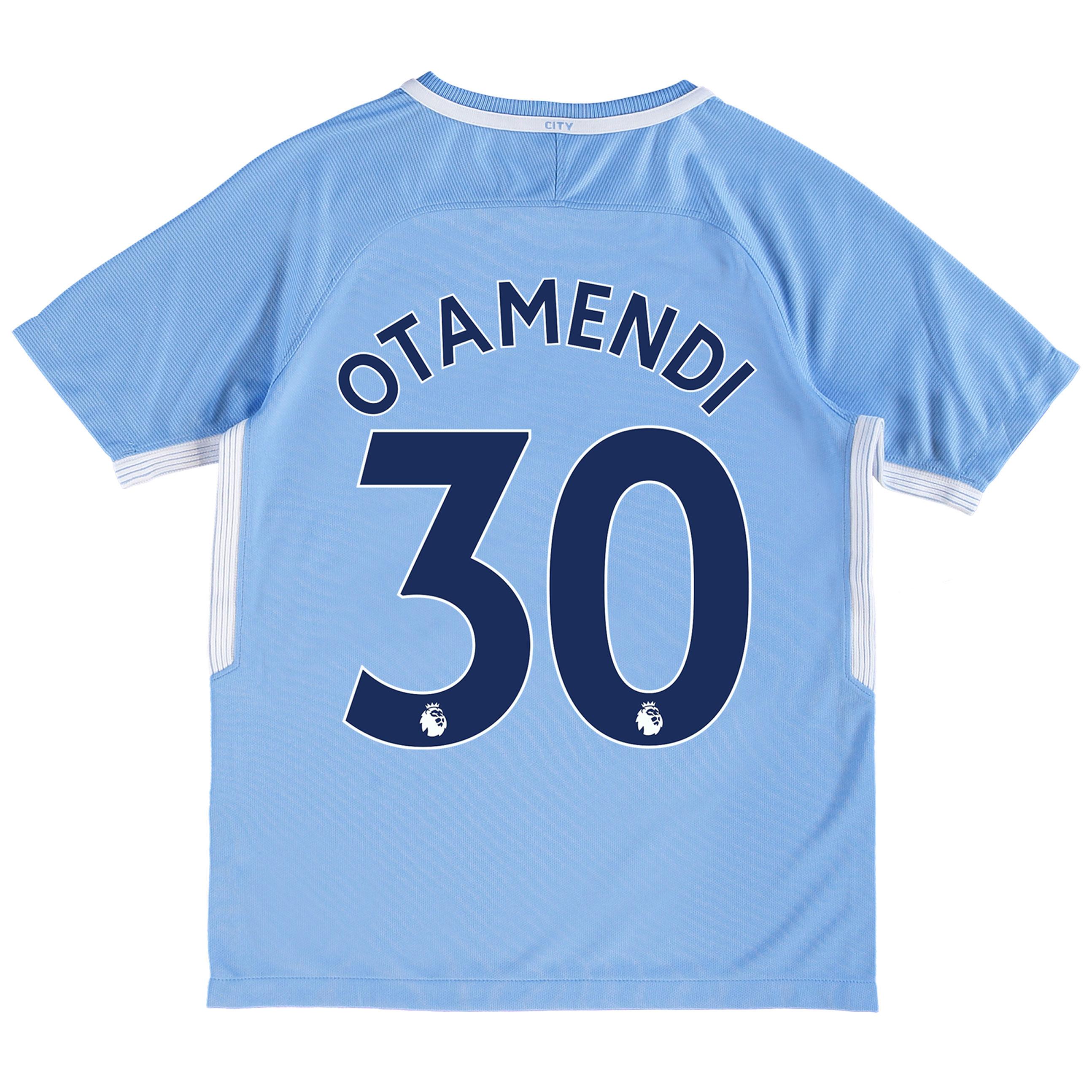 Manchester City Home Stadium Shirt 2017-18 - Kids with Otamendi 30 pri