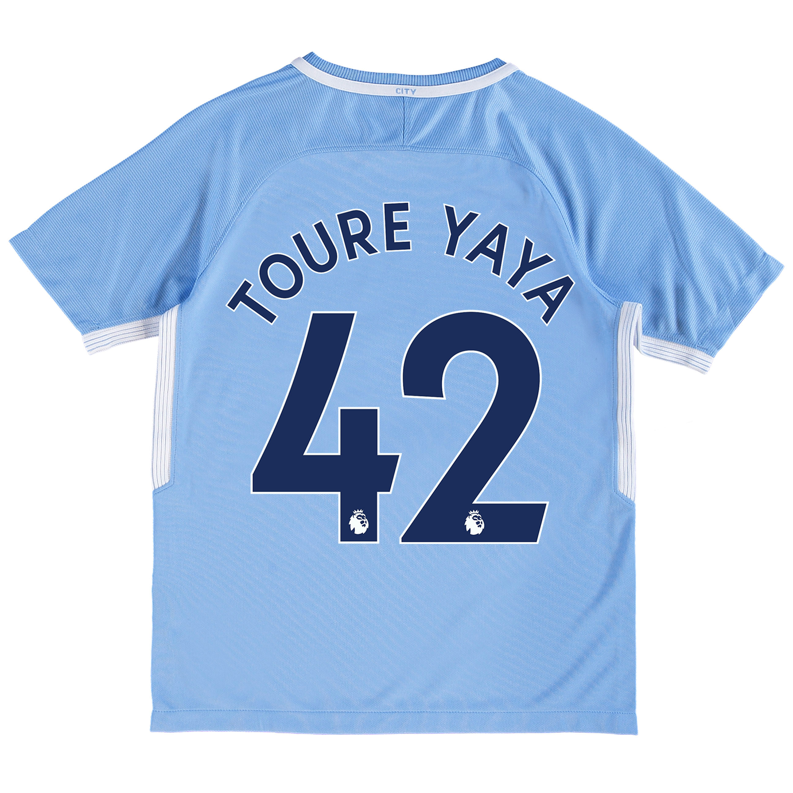 Manchester City Home Stadium Shirt 2017-18 - Kids with Toure Yaya 42 p