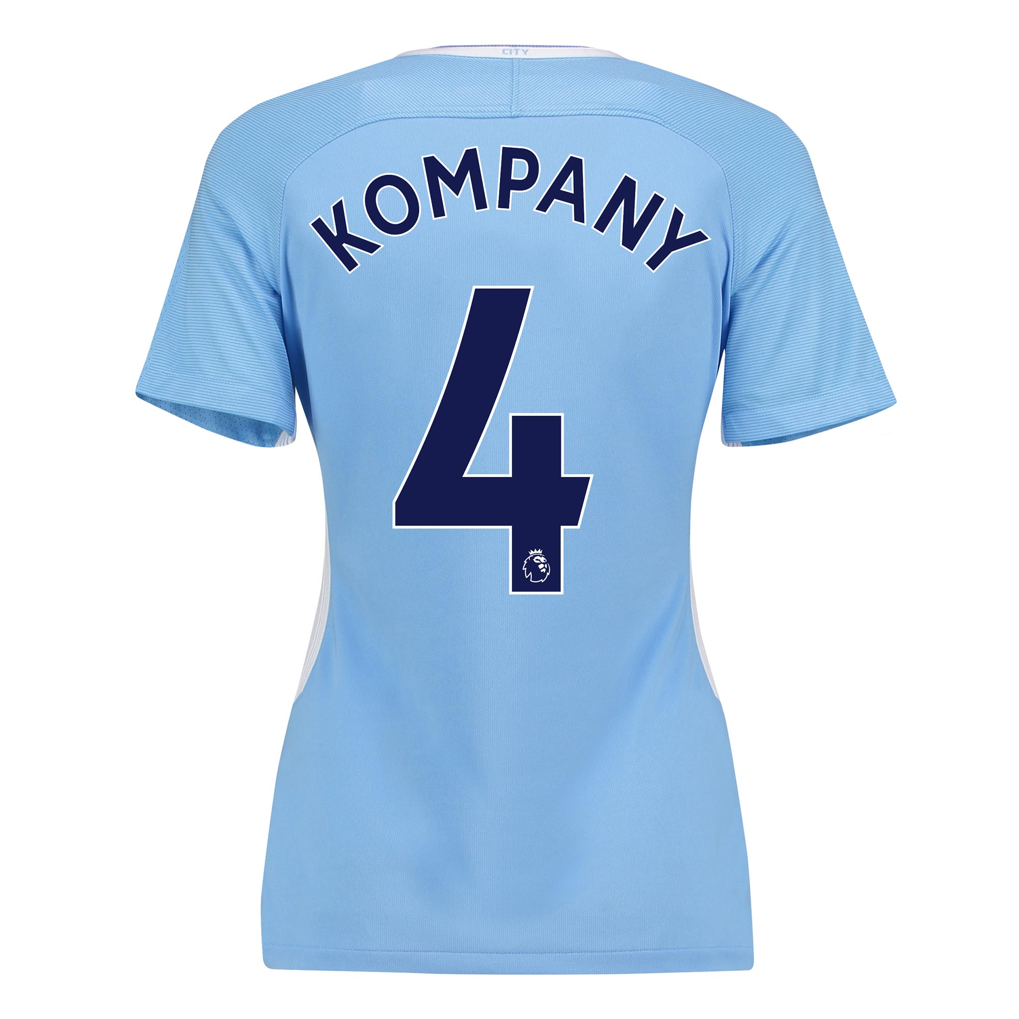 Manchester City Home Stadium Shirt 2017-18 - Womens with Kompany 4 pri