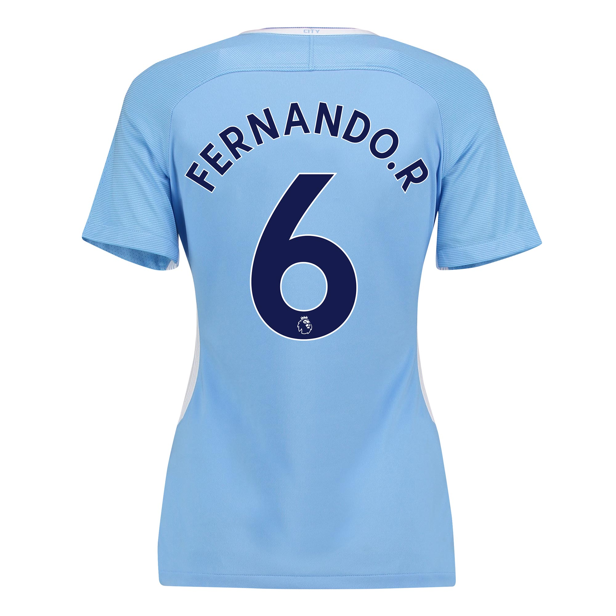 Manchester City Home Stadium Shirt 2017-18 - Womens with Fernando. R 6