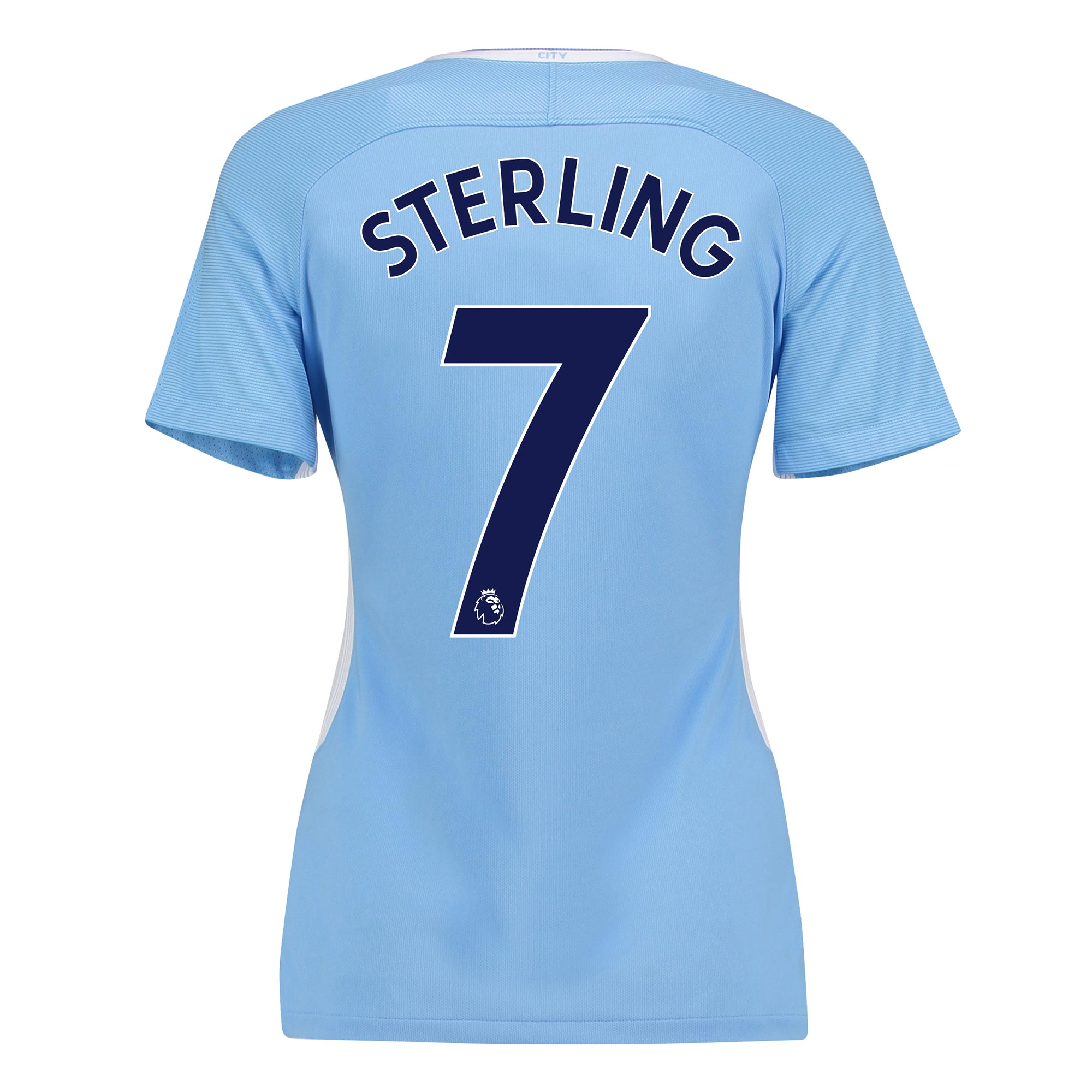 Manchester City Home Stadium Shirt 2017-18 - Womens with Sterling 7 pr