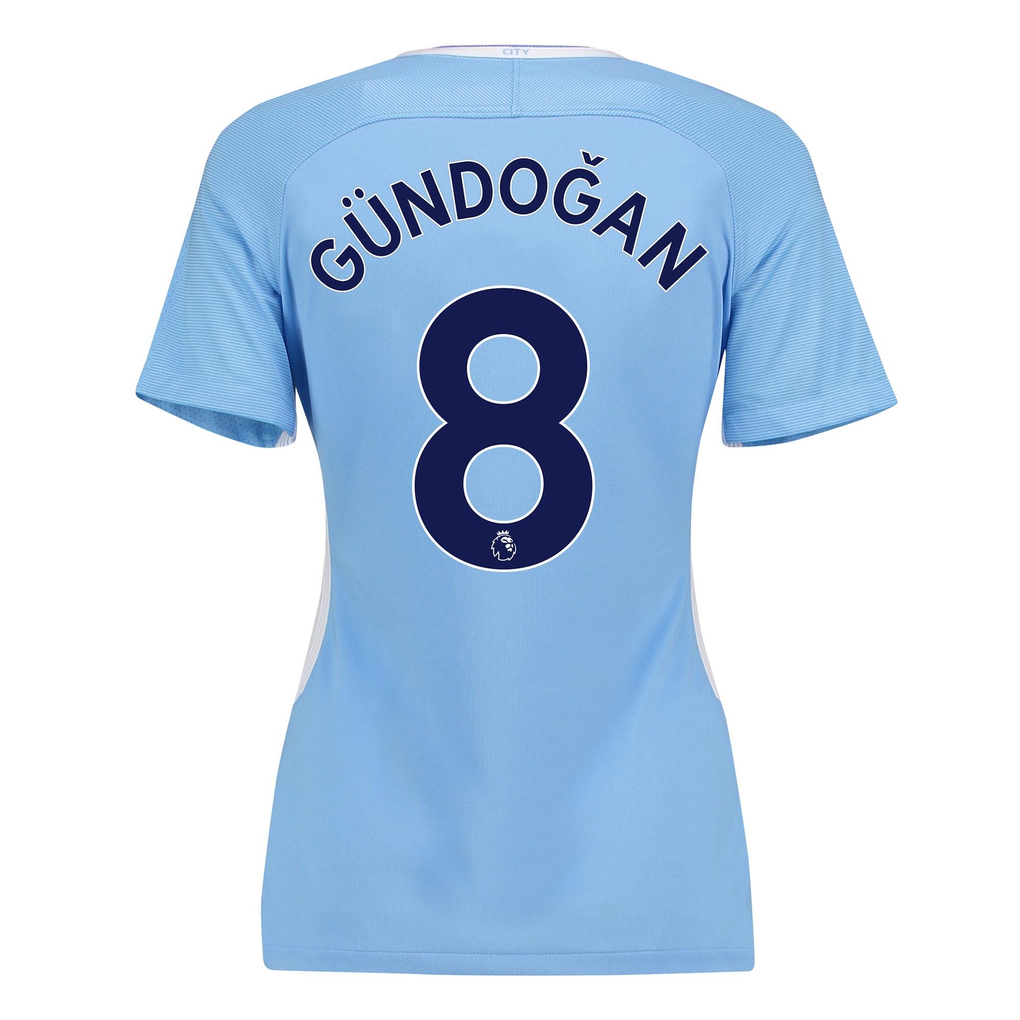 Manchester City Home Stadium Shirt 2017-18 - Womens with Gündogan 8 pr