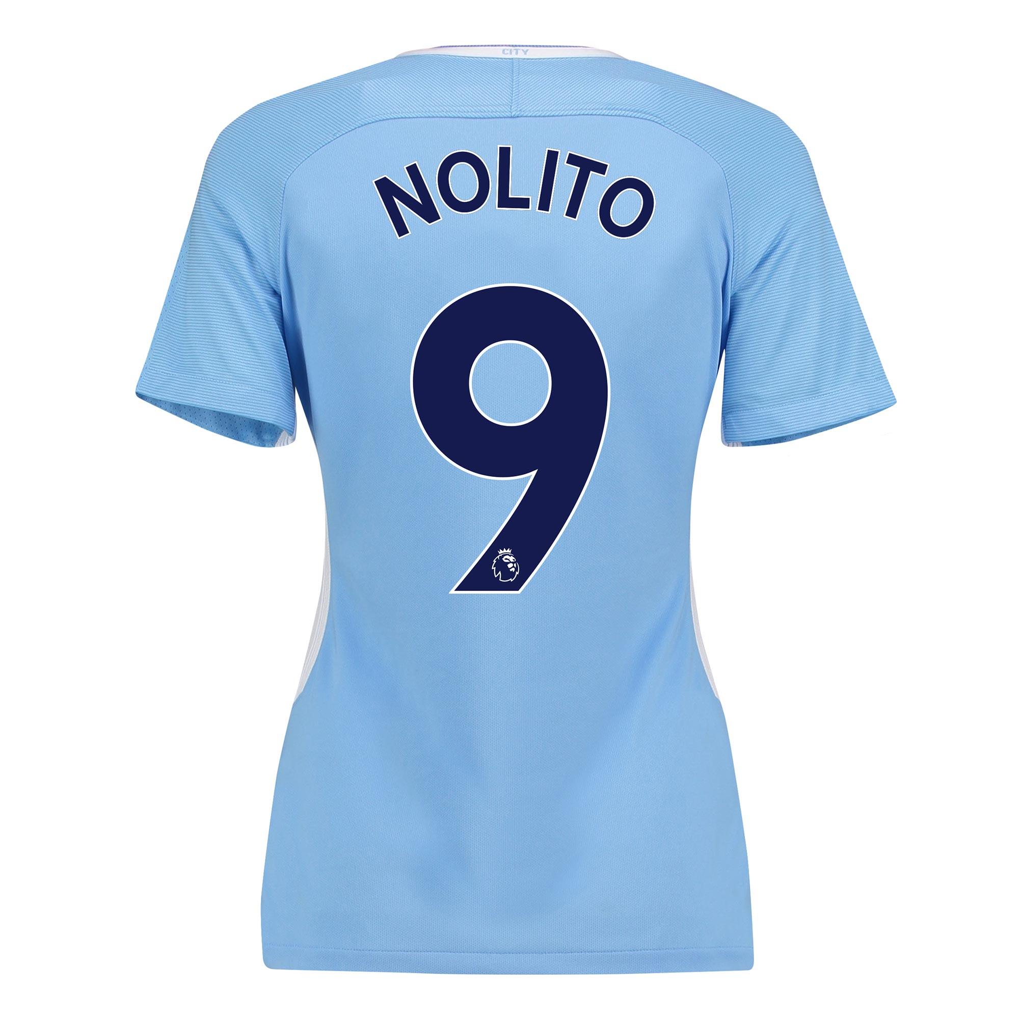 Manchester City Home Stadium Shirt 2017-18 - Womens with Nolito 9 prin