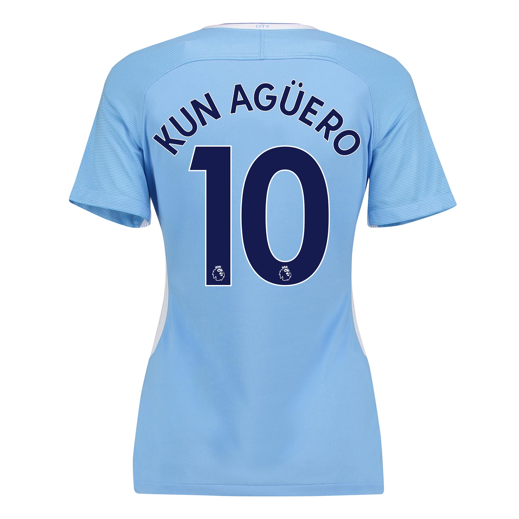 Manchester City Home Stadium Shirt 2017-18 - Womens with Kun Ag??ero  1