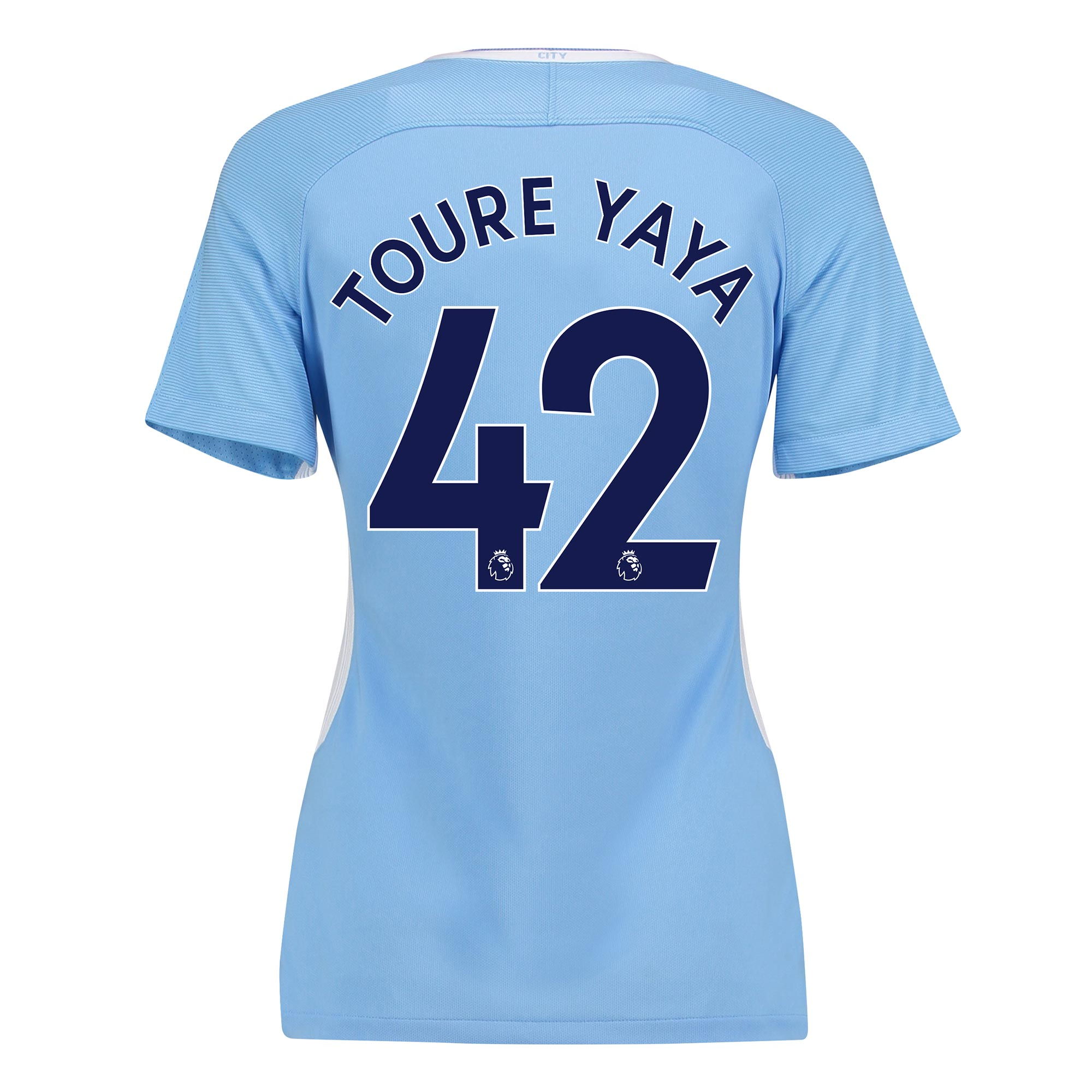 Manchester City Home Stadium Shirt 2017-18 - Womens with Toure Yaya 42