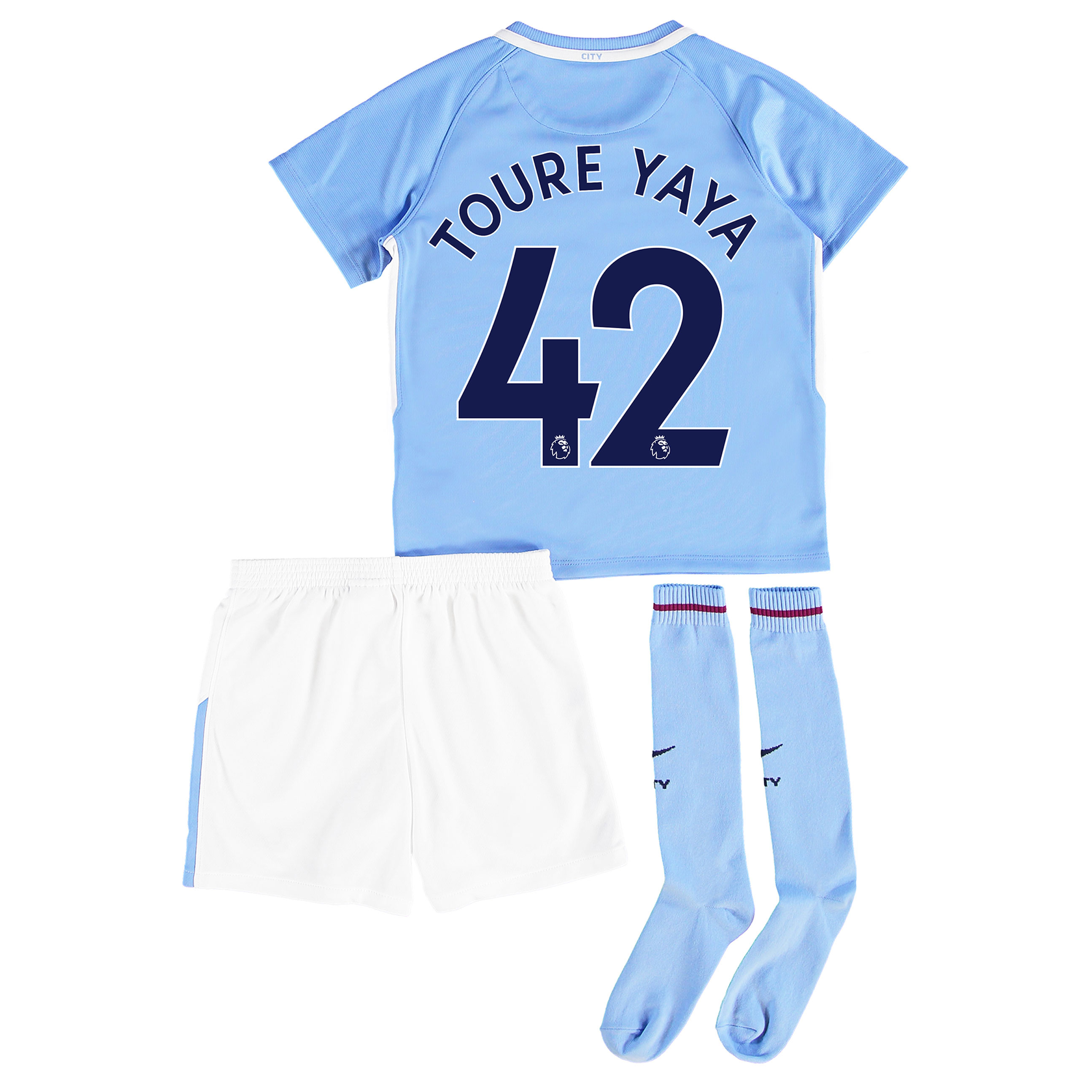 Manchester City Home Stadium Kit 2017-18 - Little Kids with Toure Yaya