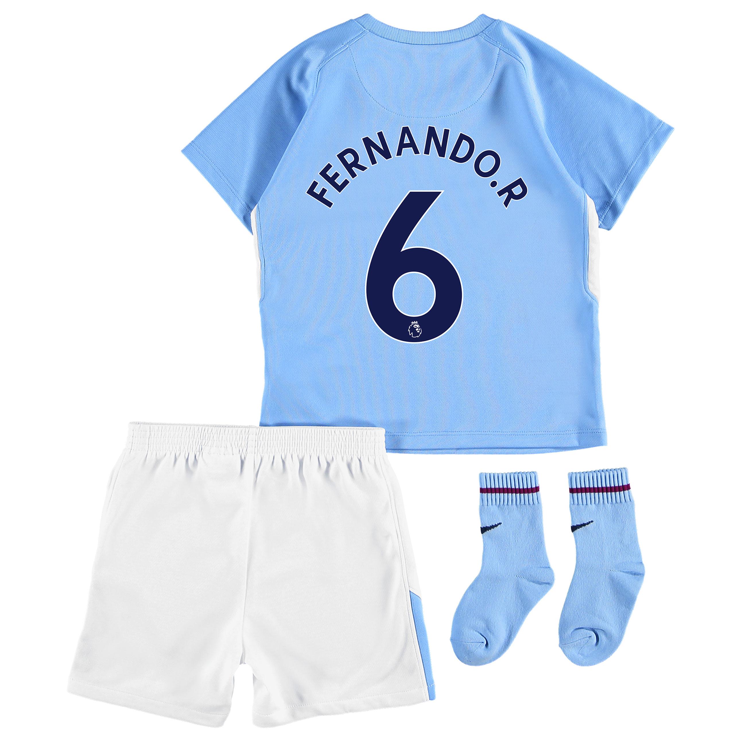 Manchester City Home Stadium Kit 2017-18 - Infants with Fernando. R 6