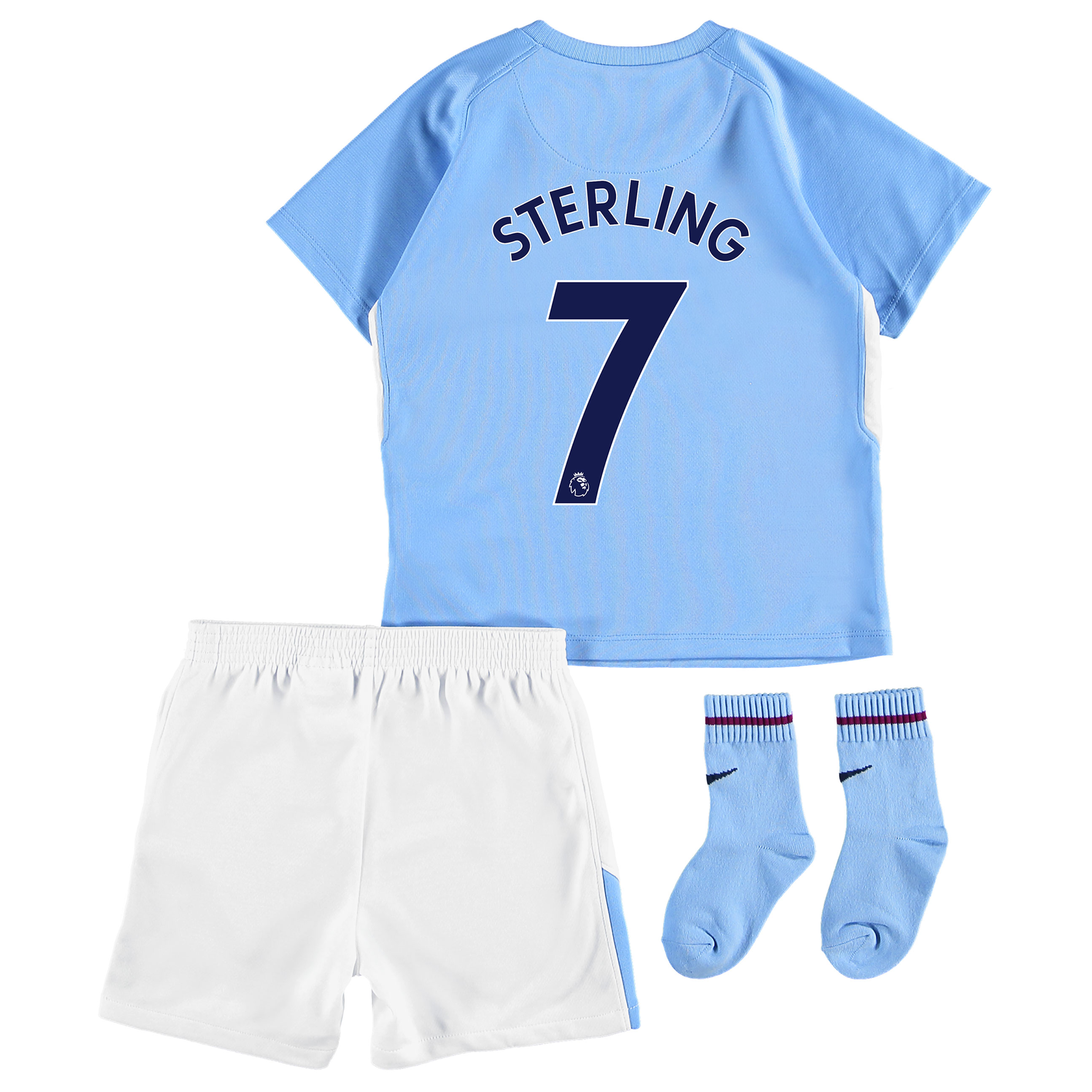 Manchester City Home Stadium Kit 2017-18 - Infants with Sterling 7 pri