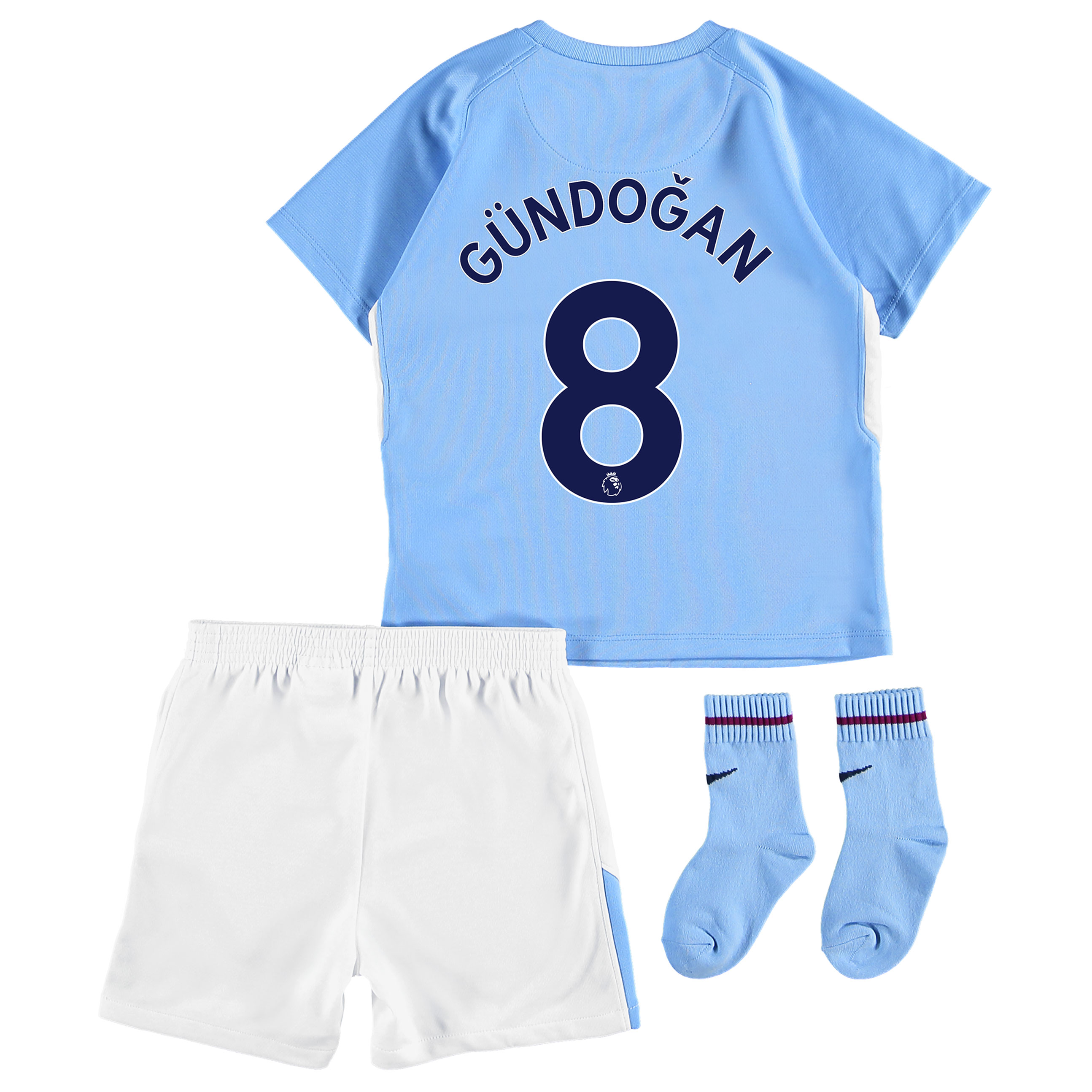 Manchester City Home Stadium Kit 2017-18 - Infants with G??ndogan 8 pri