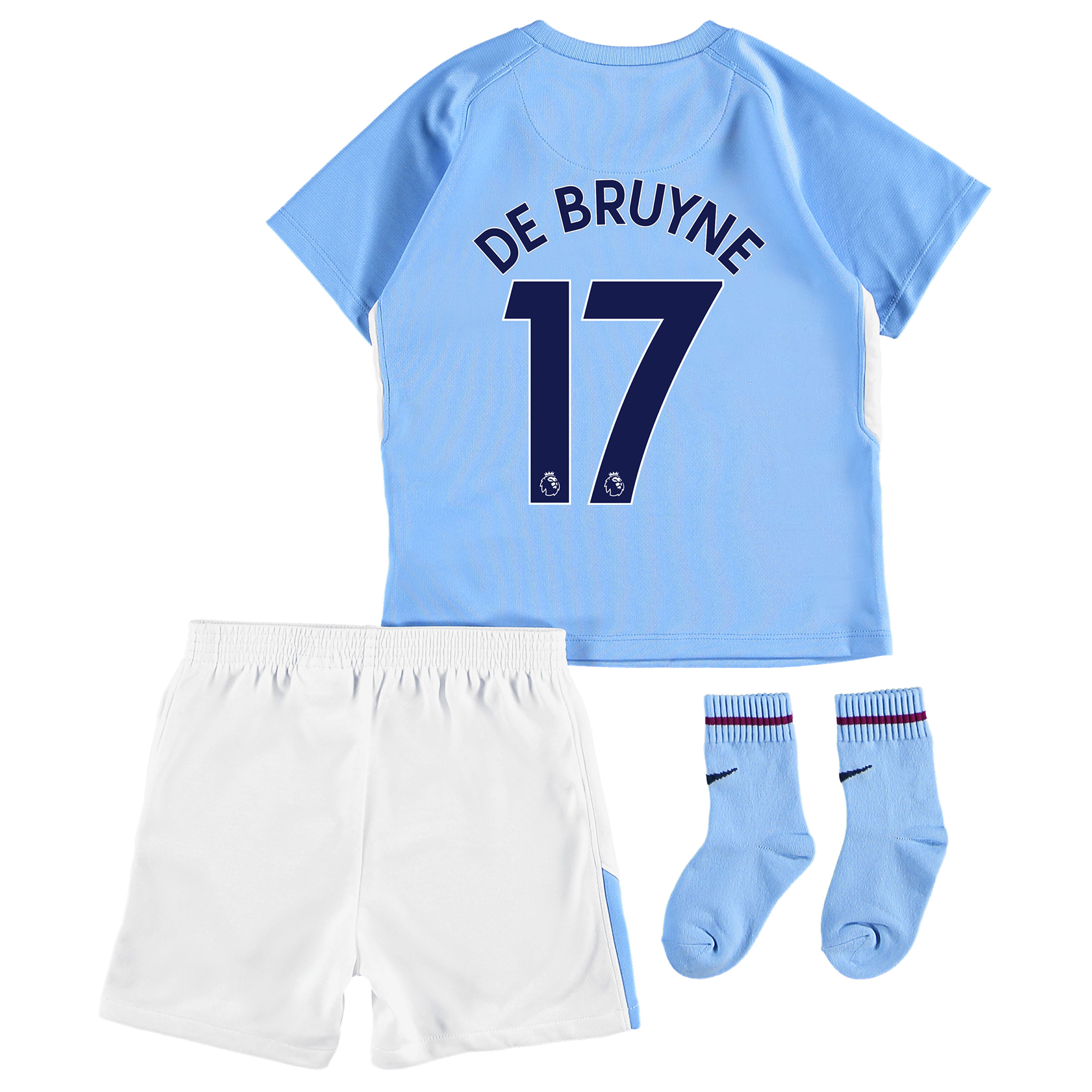 Manchester City Home Stadium Kit 2017-18 - Infants with De Bruyne 17 p