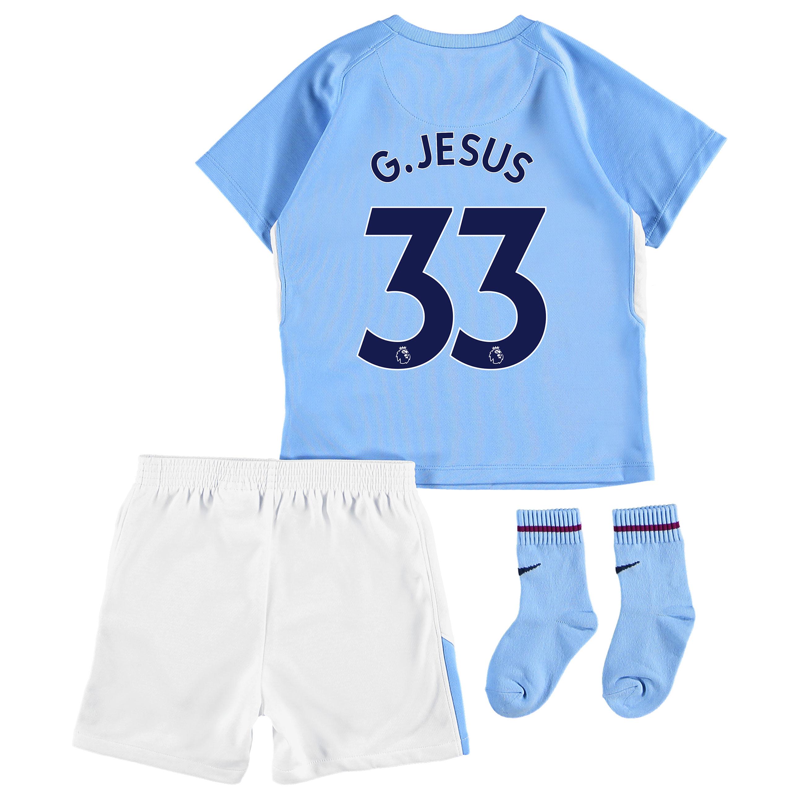 Manchester City Home Stadium Kit 2017-18 - Infants with G.Jesus 33 pri
