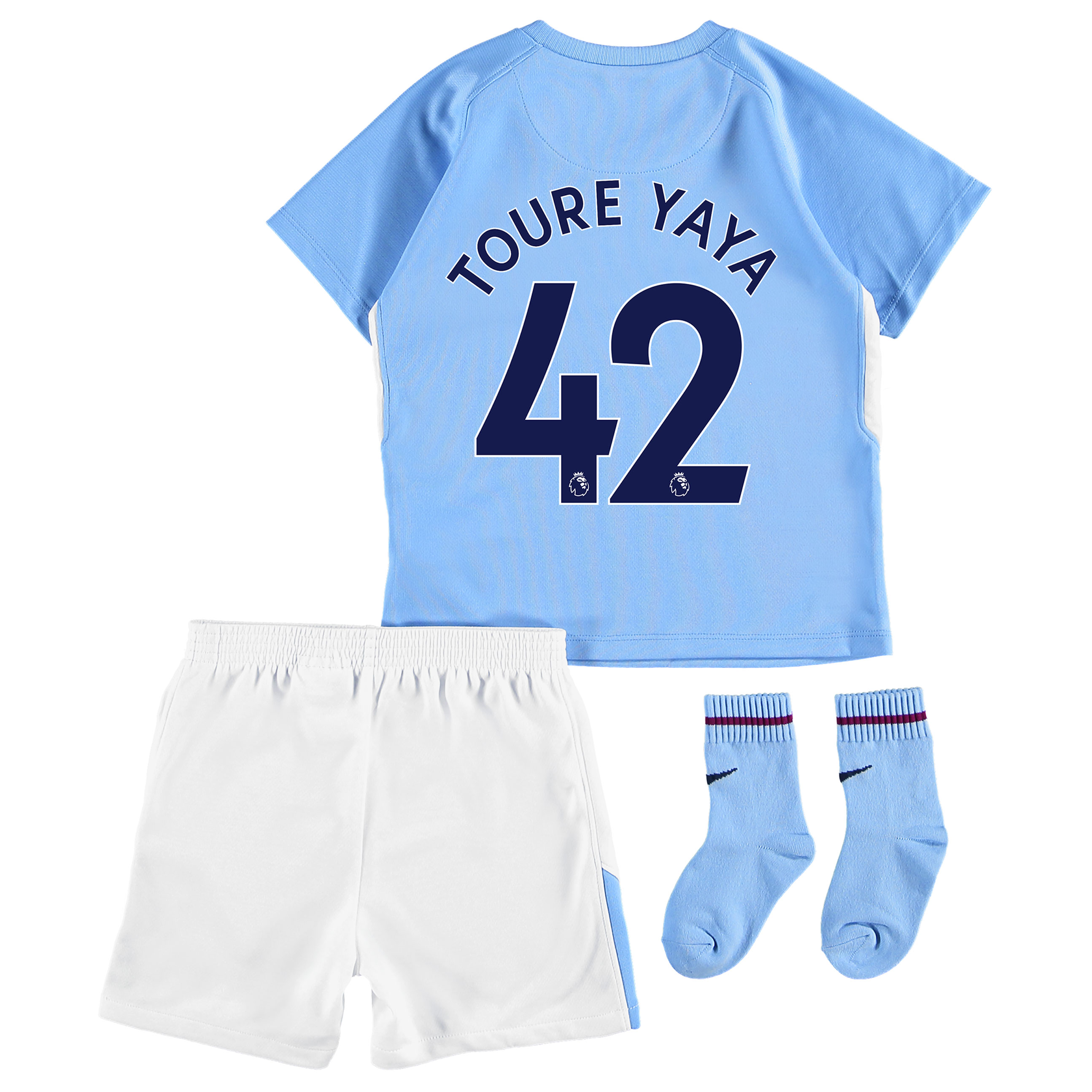 Manchester City Home Stadium Kit 2017-18 - Infants with Toure Yaya 42