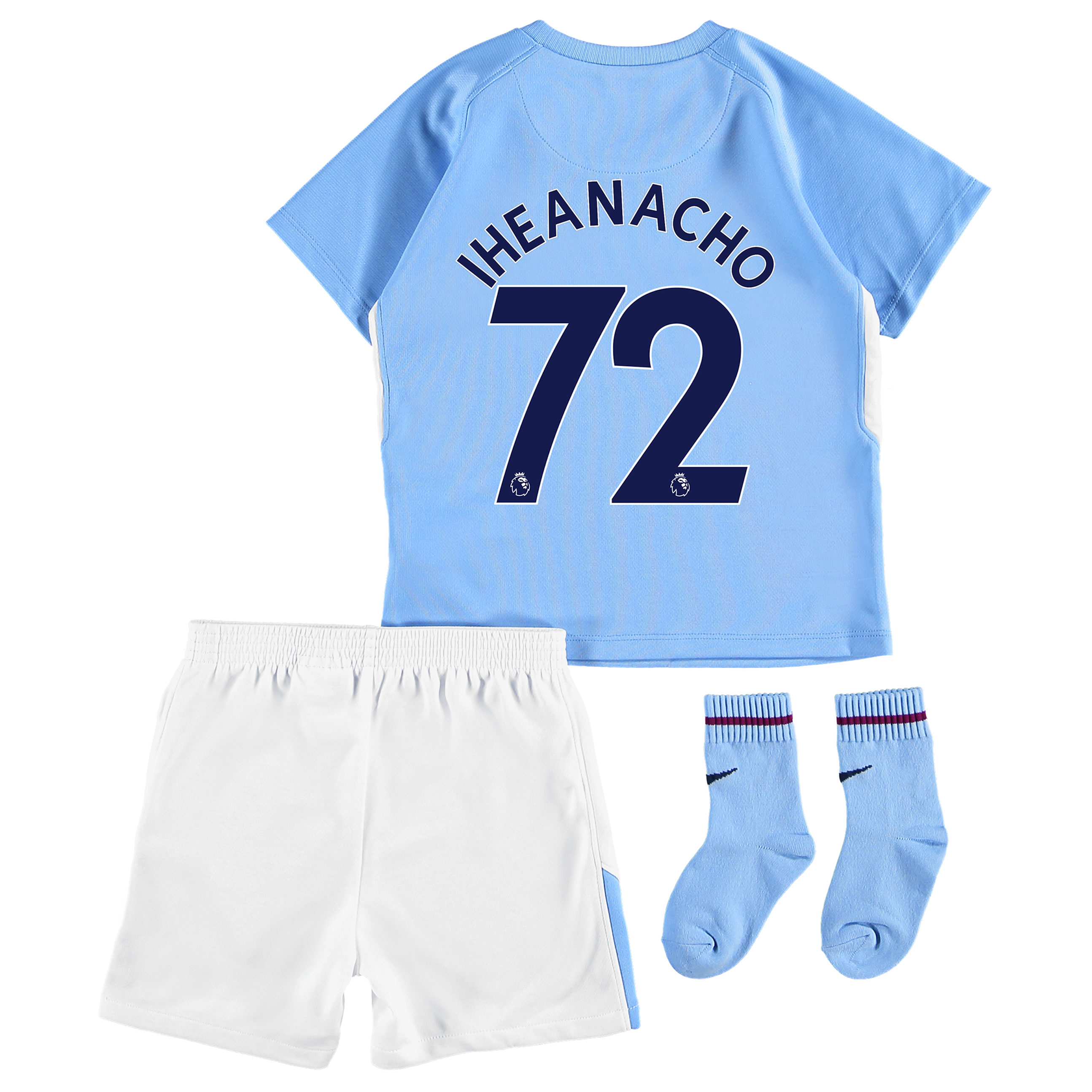 Manchester City Home Stadium Kit 2017-18 - Infants with Iheanacho 72 p