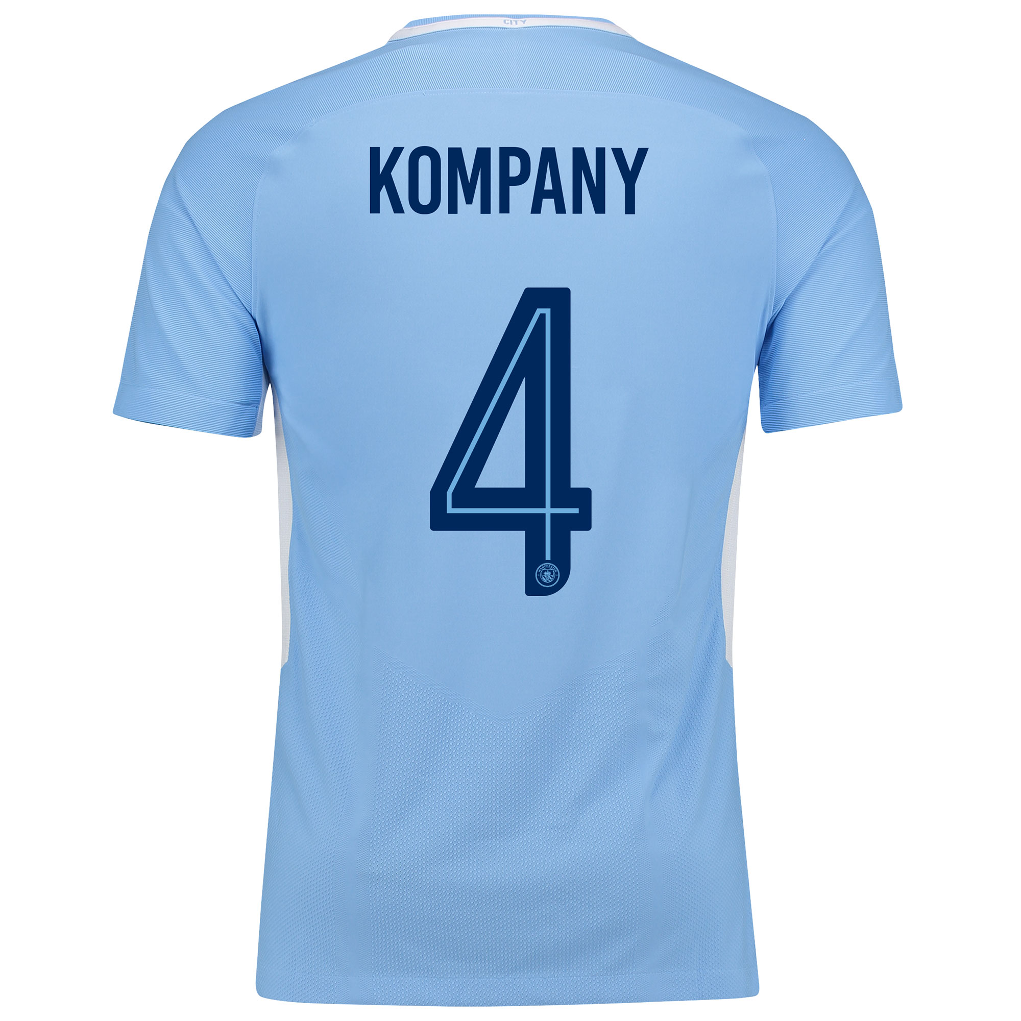 Manchester City Home Vapor Match Cup Shirt 2017-18 with Kompany 4 prin