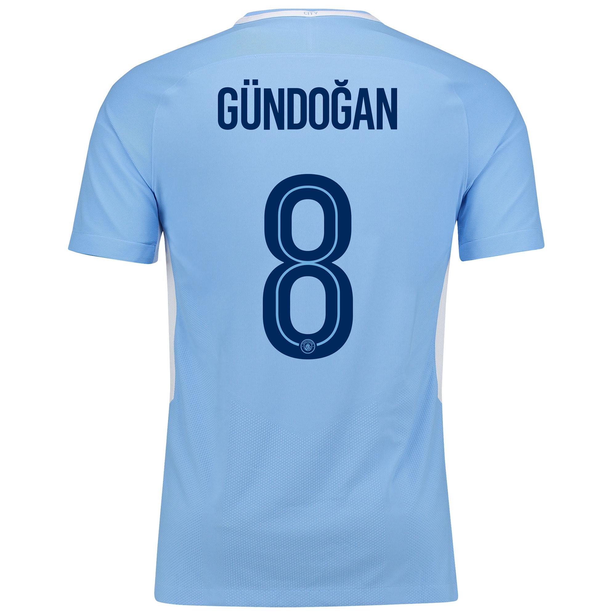 Manchester City Home Vapor Match Cup Shirt 2017-18 with G??ndogan 8 pri