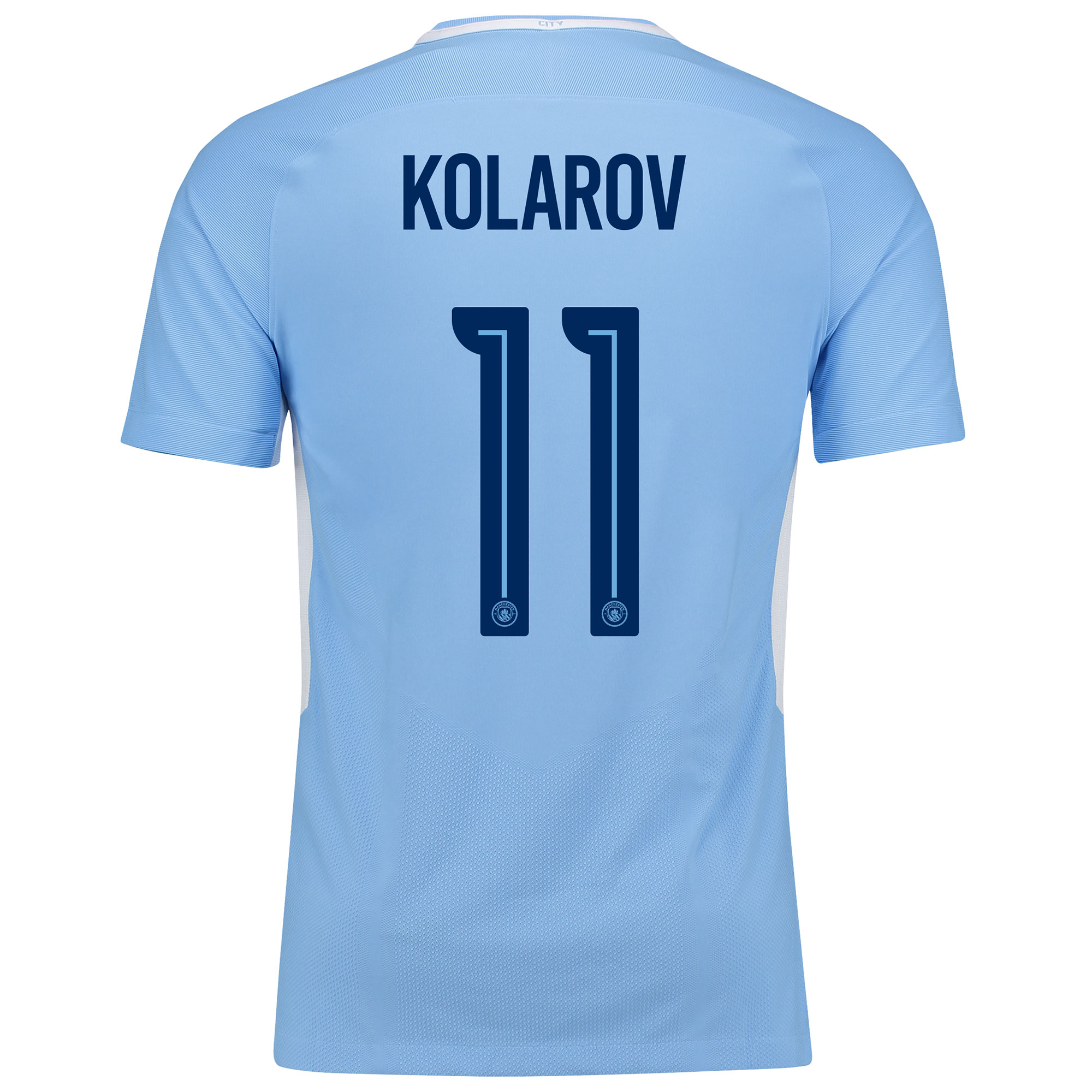 Manchester City Home Vapor Match Cup Shirt 2017-18 with Kolarov 11 pri
