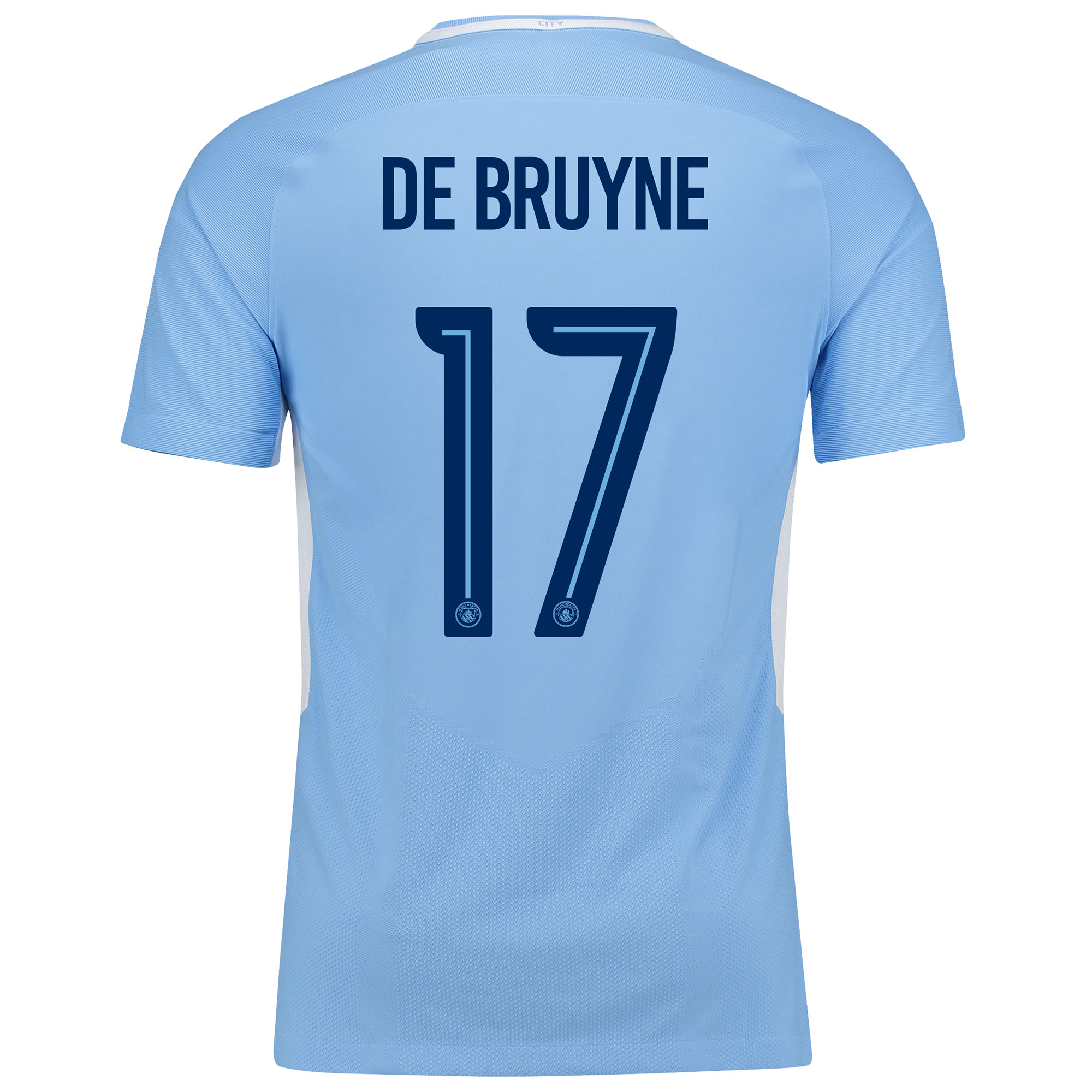Manchester City Home Vapor Match Cup Shirt 2017-18 with De Bruyne 17 p