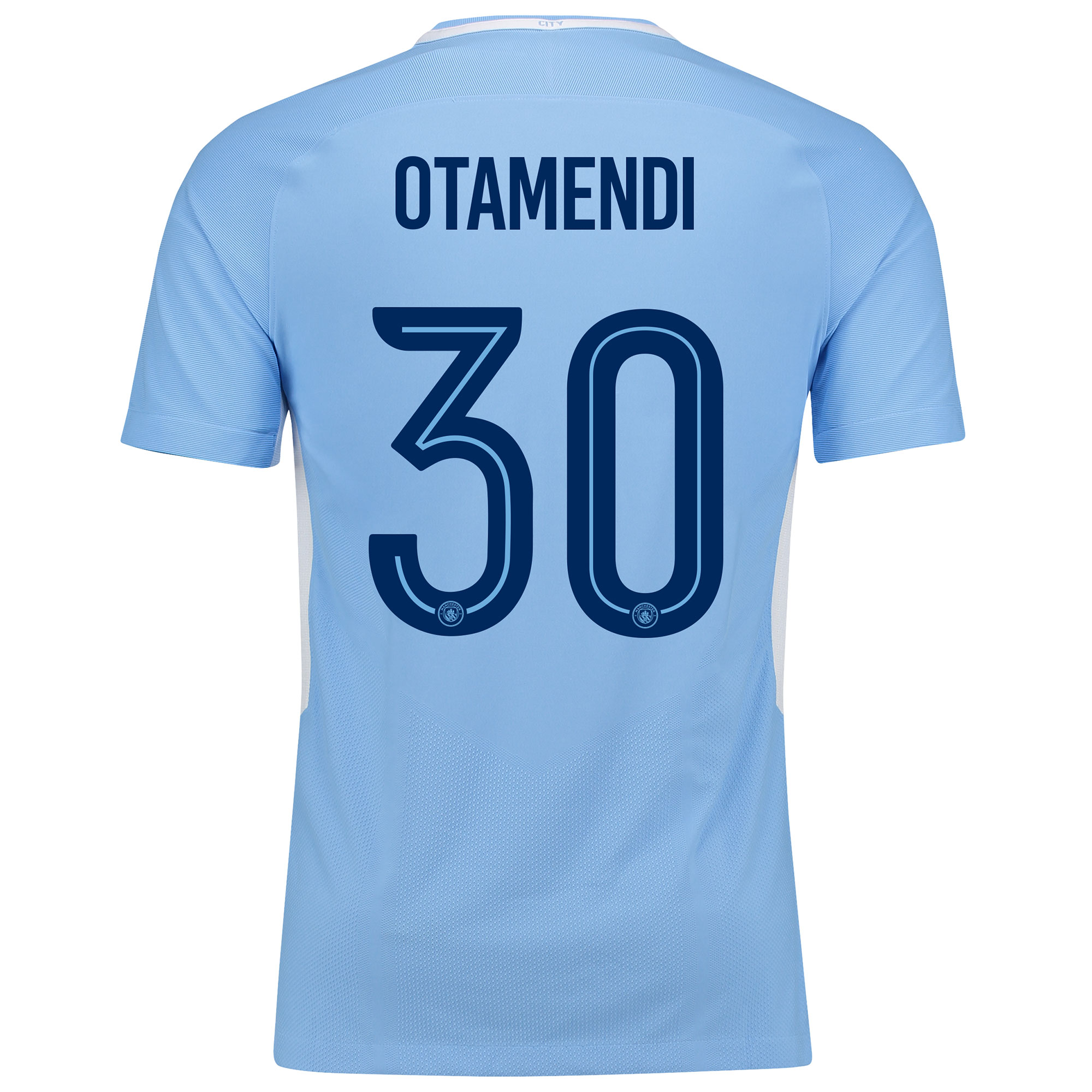 Manchester City Home Vapor Match Cup Shirt 2017-18 with Otamendi 30 pr