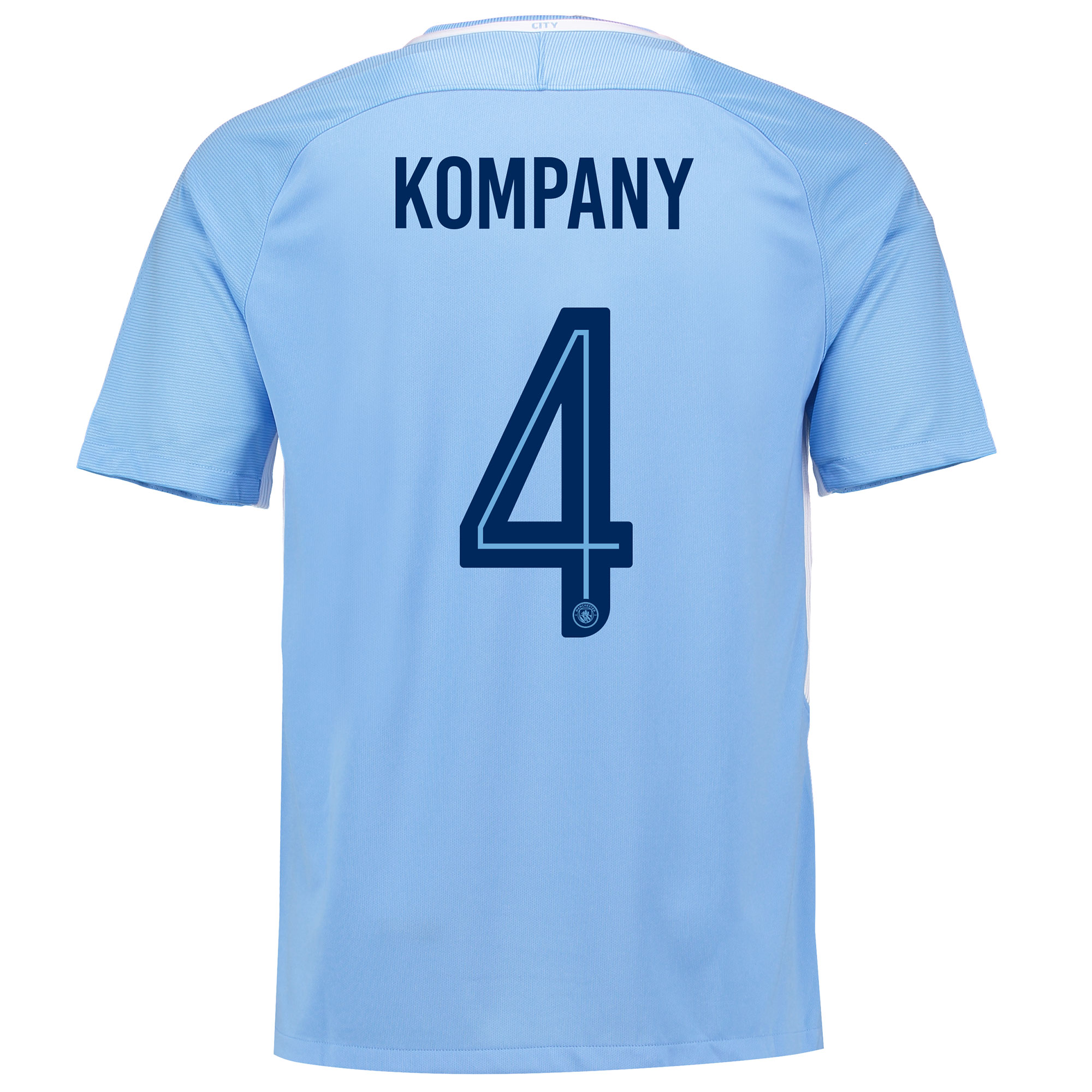 Manchester City Home Stadium Cup Shirt 2017-18 with Kompany 4 printing